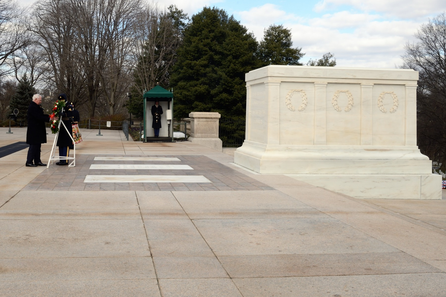 The Tomb of the Unknown Soldier is a monument dedicated to American service members who have died without their remains being identified.