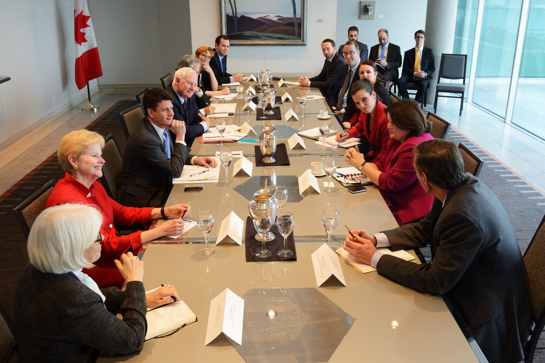 Later in the afternoon, His Excellency participated in a round-table discussion with leading Canadian educators, innovators, and entrepreneurs working in Washington, D.C.