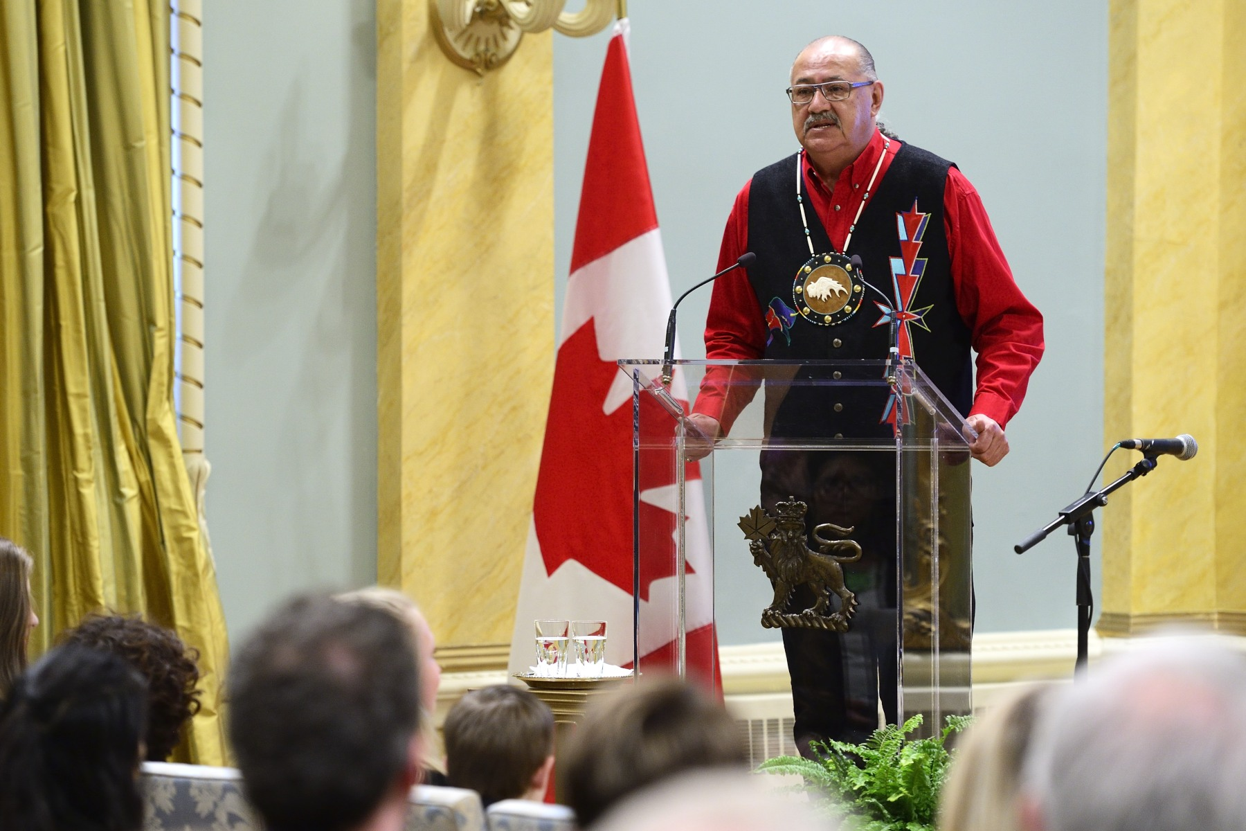 Eugène Arcand, a survivor of Indian Residential Schools, expressed his admiration for the recipients, explaining their power to teach and inspire us as we navigate the road of reconciliation.