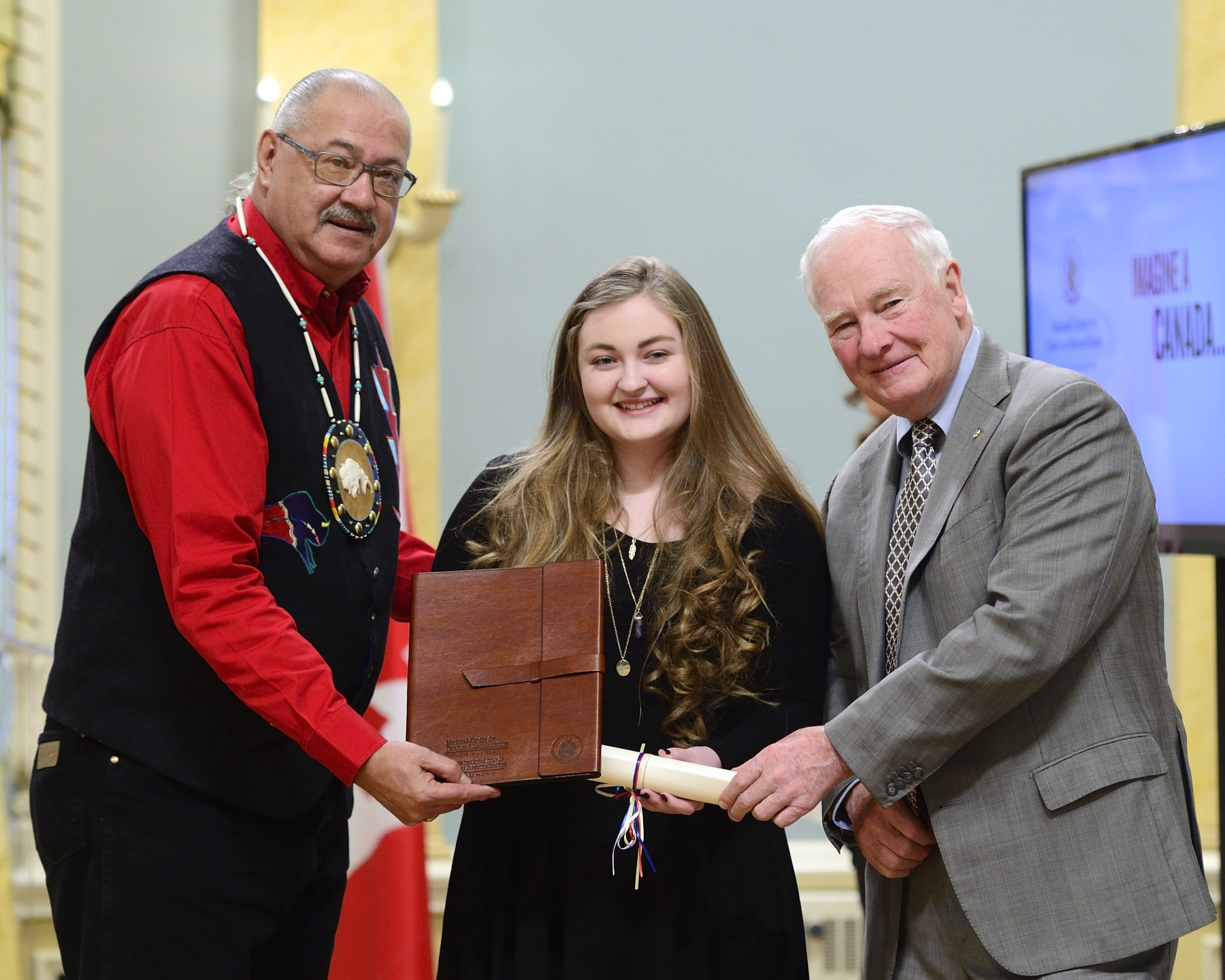 Hailing from Vancouver Island, Madeleine Morrison, a grade 9 student, was recognized for a poem she wrote.