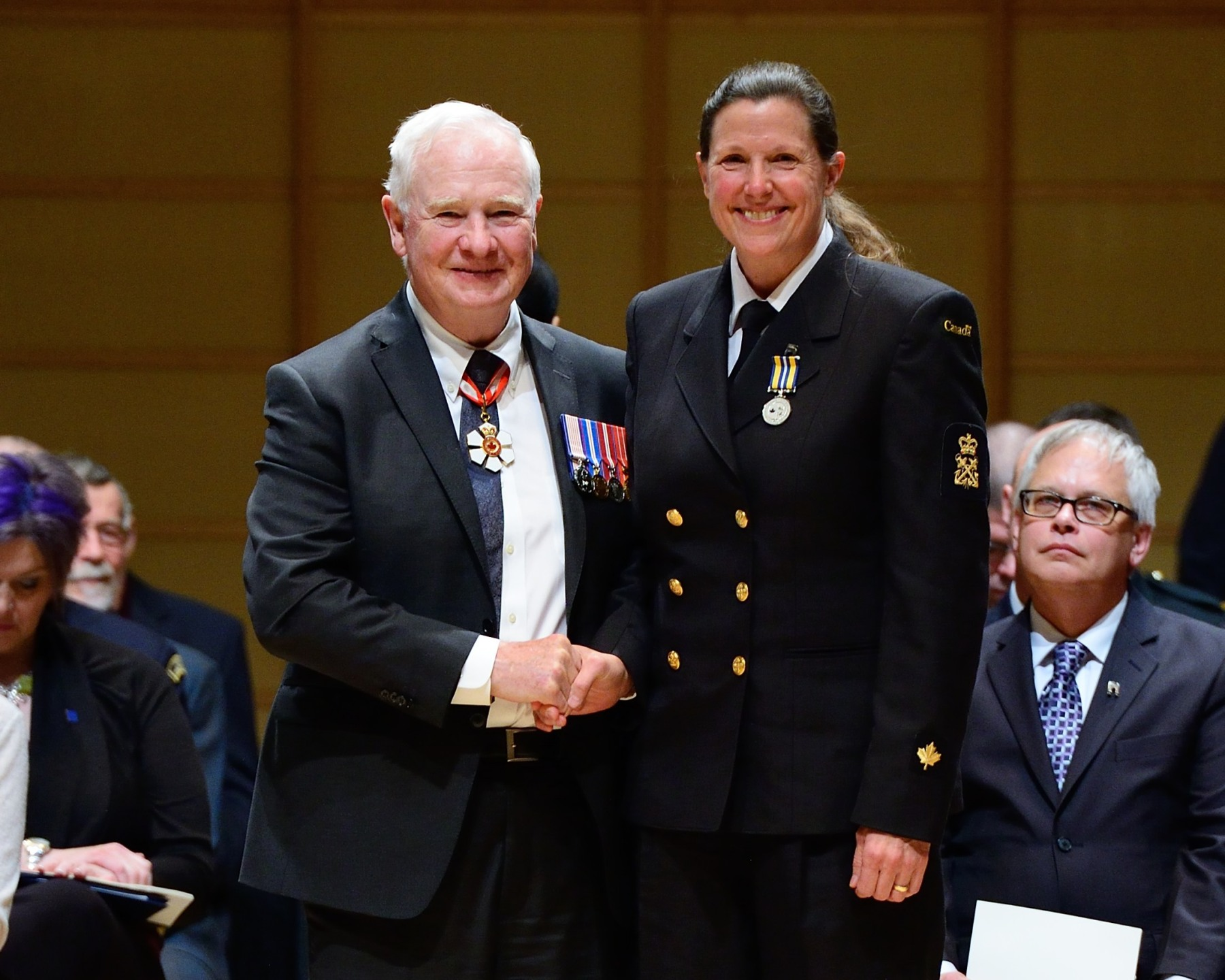 The Canadian Coast Guard Exemplary Service Medal was presented to Ms. Kelly D. Alendal, Operations Specialist at the Canadian Coast Guard, in recognition of her 20 years of loyal and exemplary service to public safety in Canada.