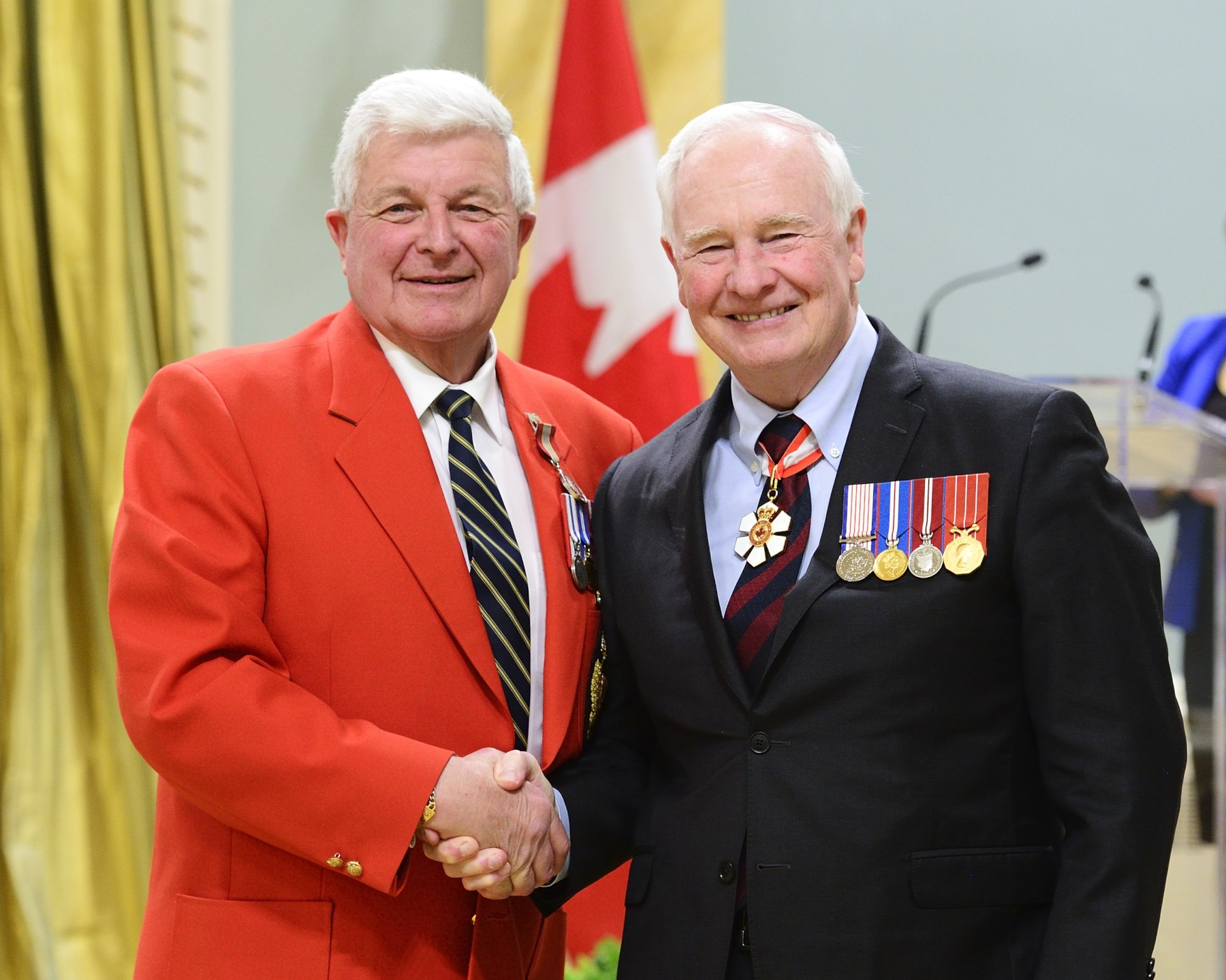 For over 50 years, Sergeant Garth Hampson (Ottawa, Ontario) has been a community leader, providing his voice and musical talents to such organizations as the Children's Hospital of Eastern Ontario, the RCMP Charity Ball and the Duke of Edinburgh's International Award, in addition to other community-building initiatives. His efforts have facilitated bridge-building with Aboriginal peoples throughout Canada and have supported many valuable charities and programs.