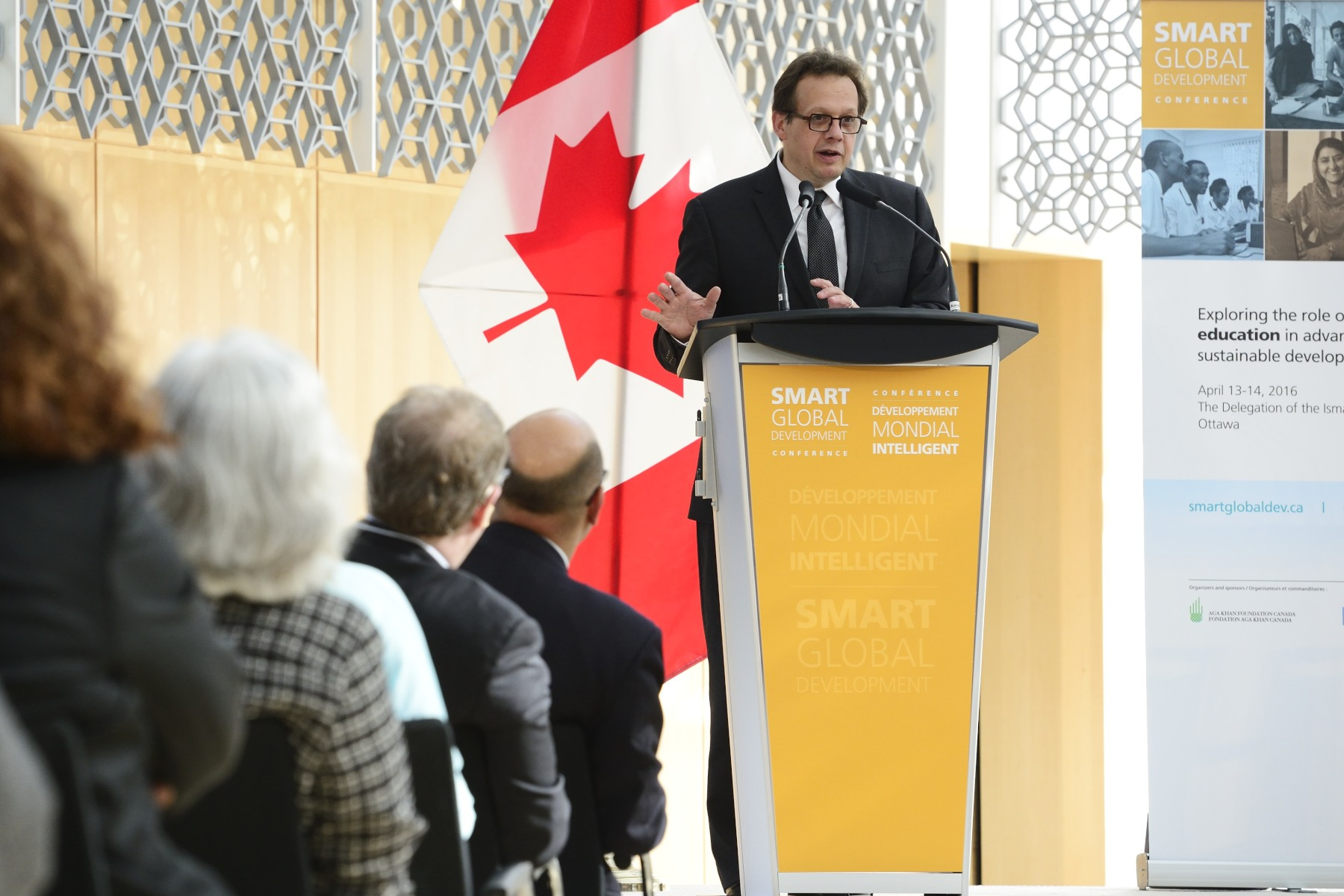 Mr. Jean Lebel, Président of the International Development Research Center, provided remarks before introducing the Governor General and inviting him to the podium.