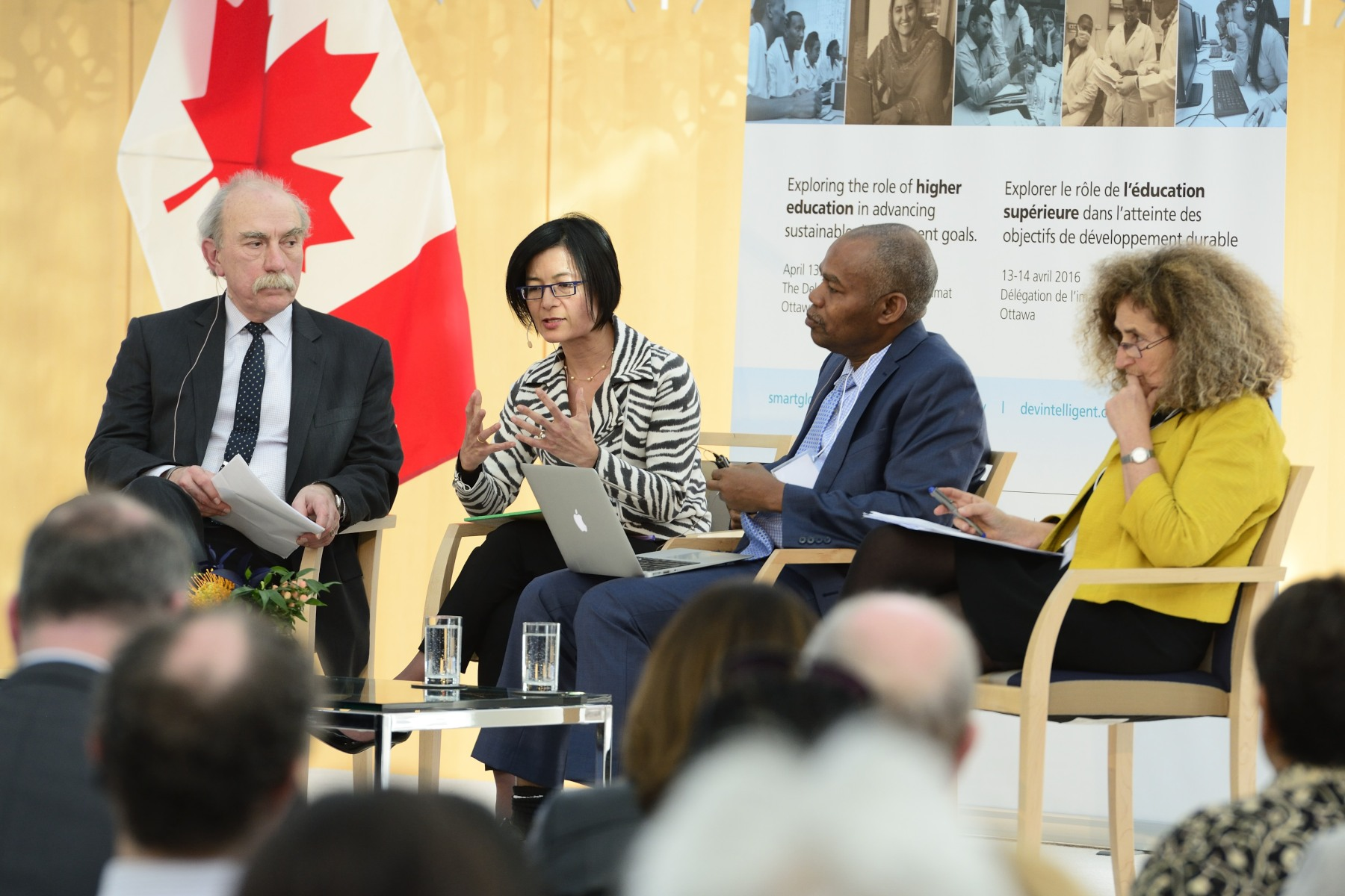 A lively panel discussion with Ms. Reeta Roy, Dr. Leonard Wantchekon and Dr. Eva Egron-Polak followed.  The discussion was moderated by Dr. Greg Mora.
