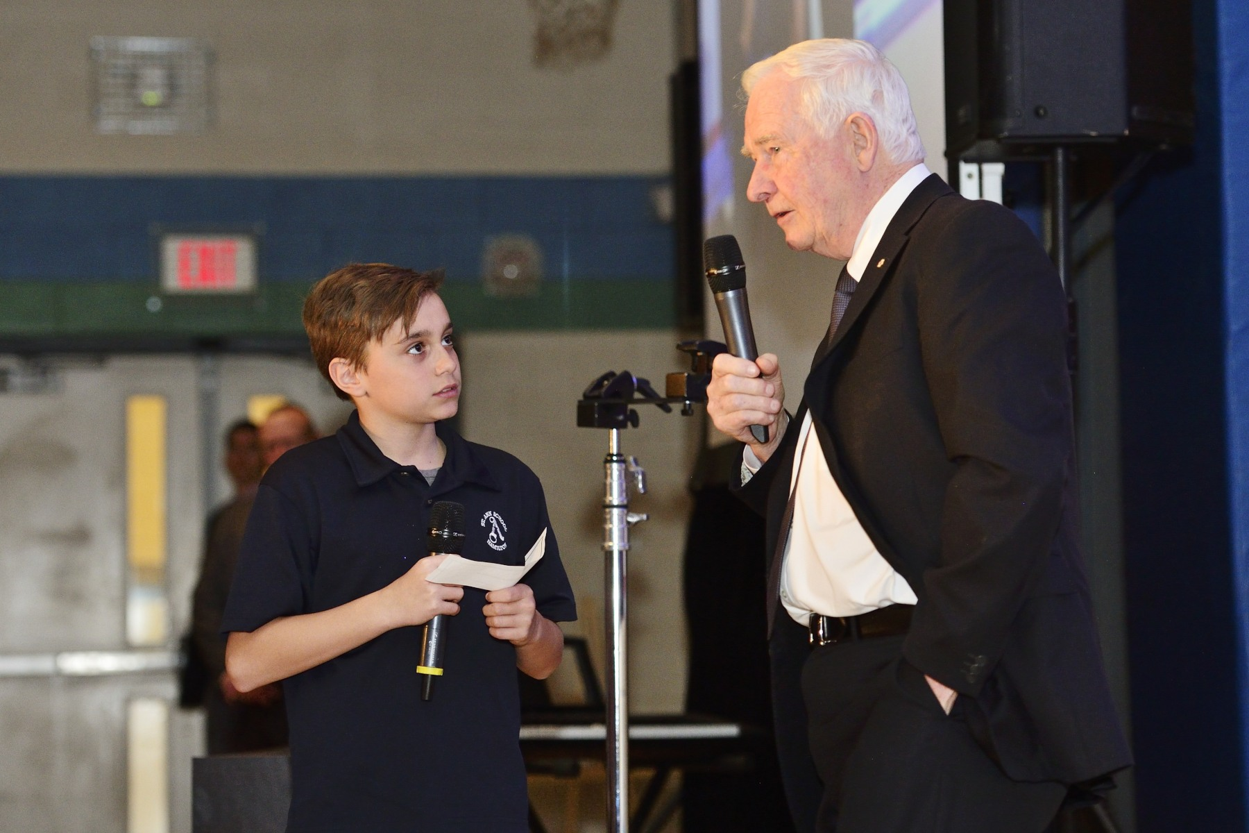 After his address, students had an opportunity to ask the Governor General questions.
