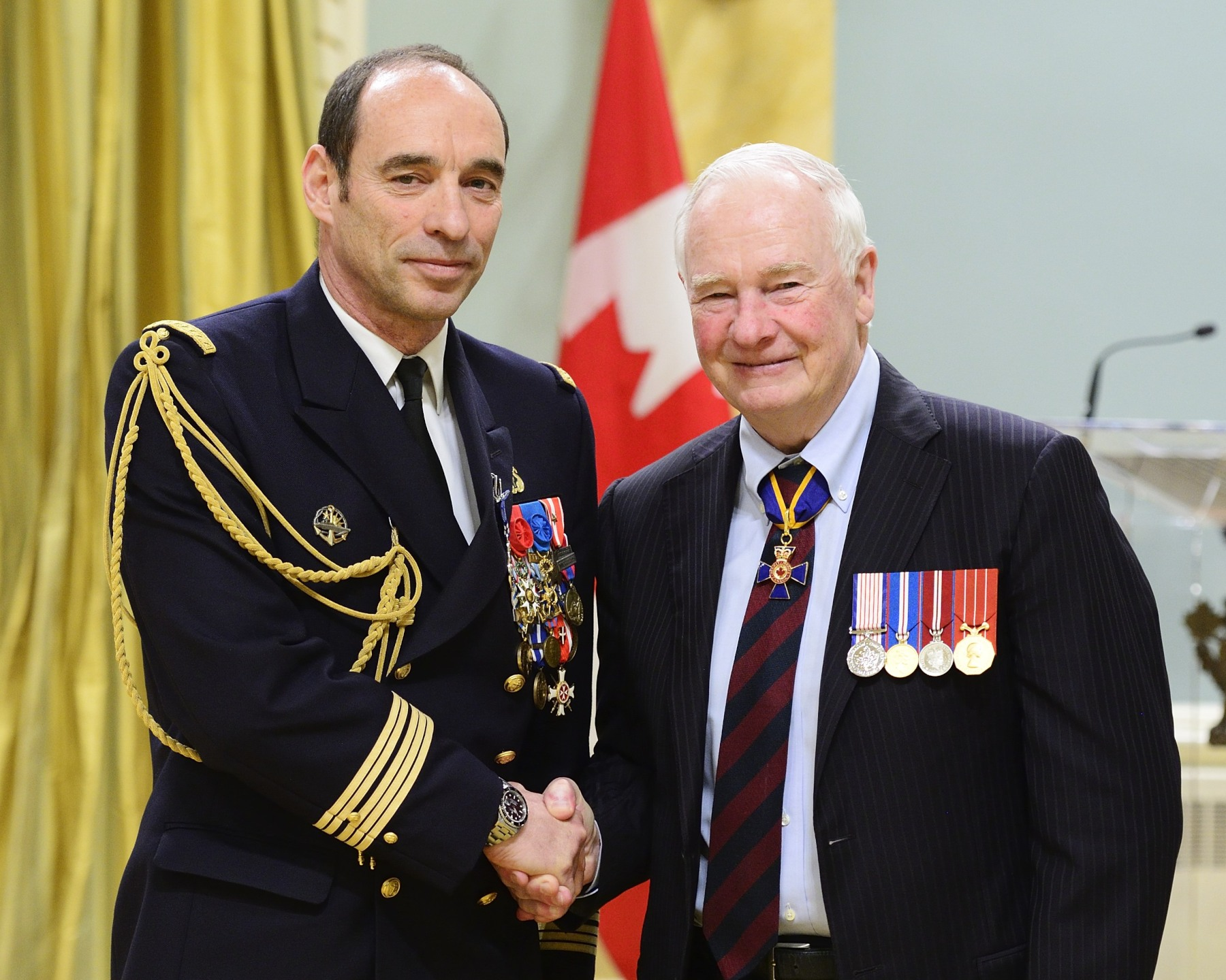 Captain(N) Christophe Antoine Marie Balducchi, M.S.M. (French Navy) demonstrated outstanding dedication and professionalism while serving as defence attaché at the French Embassy in Ottawa, from 2013 to 2015. He played a significant role in recognizing the service and sacrifice of past and present Canadian soldiers by organizing a wide range of commemorative activities that strengthened the ties of friendship between France and Canada. Captain(N) Balducchi's contribution to recognizing our military personnel has brought great honour to Canada.