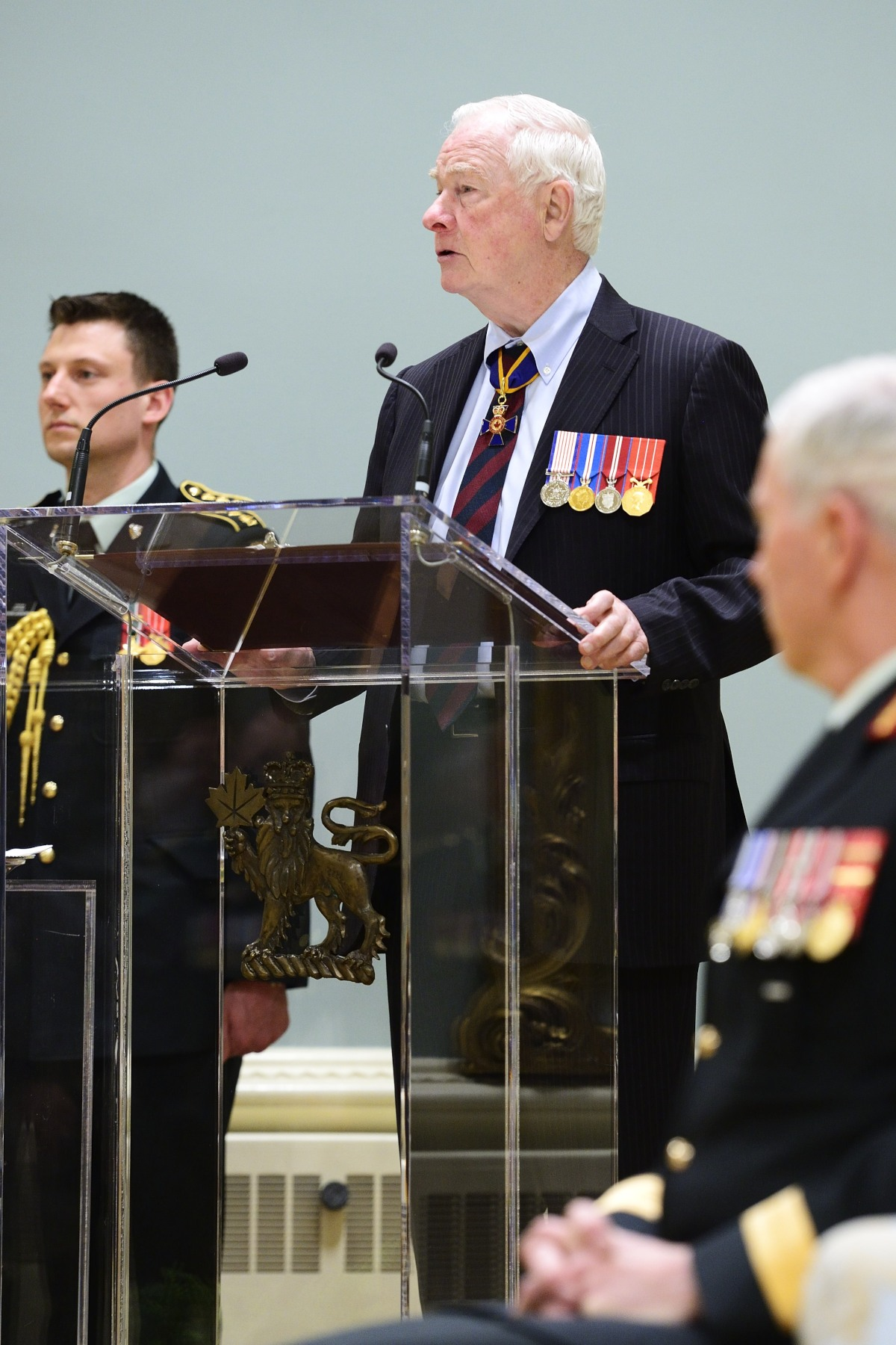 """Your uniform is a symbol of your commitment to Canada, but it's what you do in that uniform that really counts,"" said the Governor General. ""I'm proud to be commander-in-chief. I'm proud to salute your efforts and to say thank you for your service. Canada is grateful for all that you've done."""
