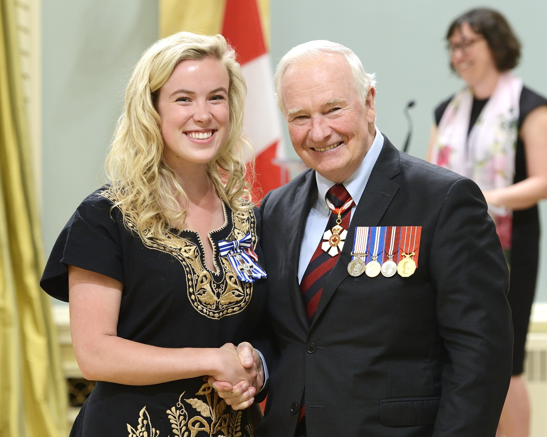 "At the age of eight, Hannah Taylor, M.S.C. (Winnipeg, Ontario), created The Ladybug Foundation to encourage others to treat homeless people with dignity and to raise funds for groups providing food and shelter to the needy. Through her ""Big Boss"" lunches, where she addresses members of the business community, and through educational curriculum-based programs for teachers, she continues to inspire Canadians of all ages to get involved and make a difference."