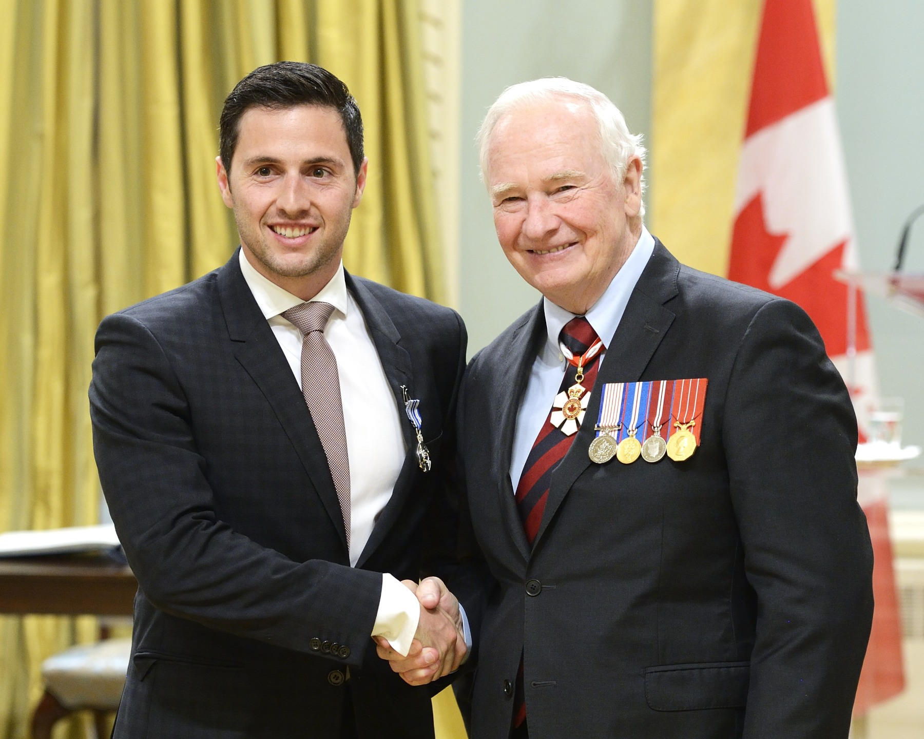 Alexandre Bilodeau, M.S.M. (Montréal, Quebec), is an accomplished freestyle skier with 19 World Cup medals and the first Olympic gold medal won by a Canadian on Canadian soil. He is also a national spokesperson for youth with disabilities who contributes time and money to the Canadian Association of Paediatric Health Centres. In 2012, he and his brother served as Canada's ambassadors for World Cerebral Palsy Day.