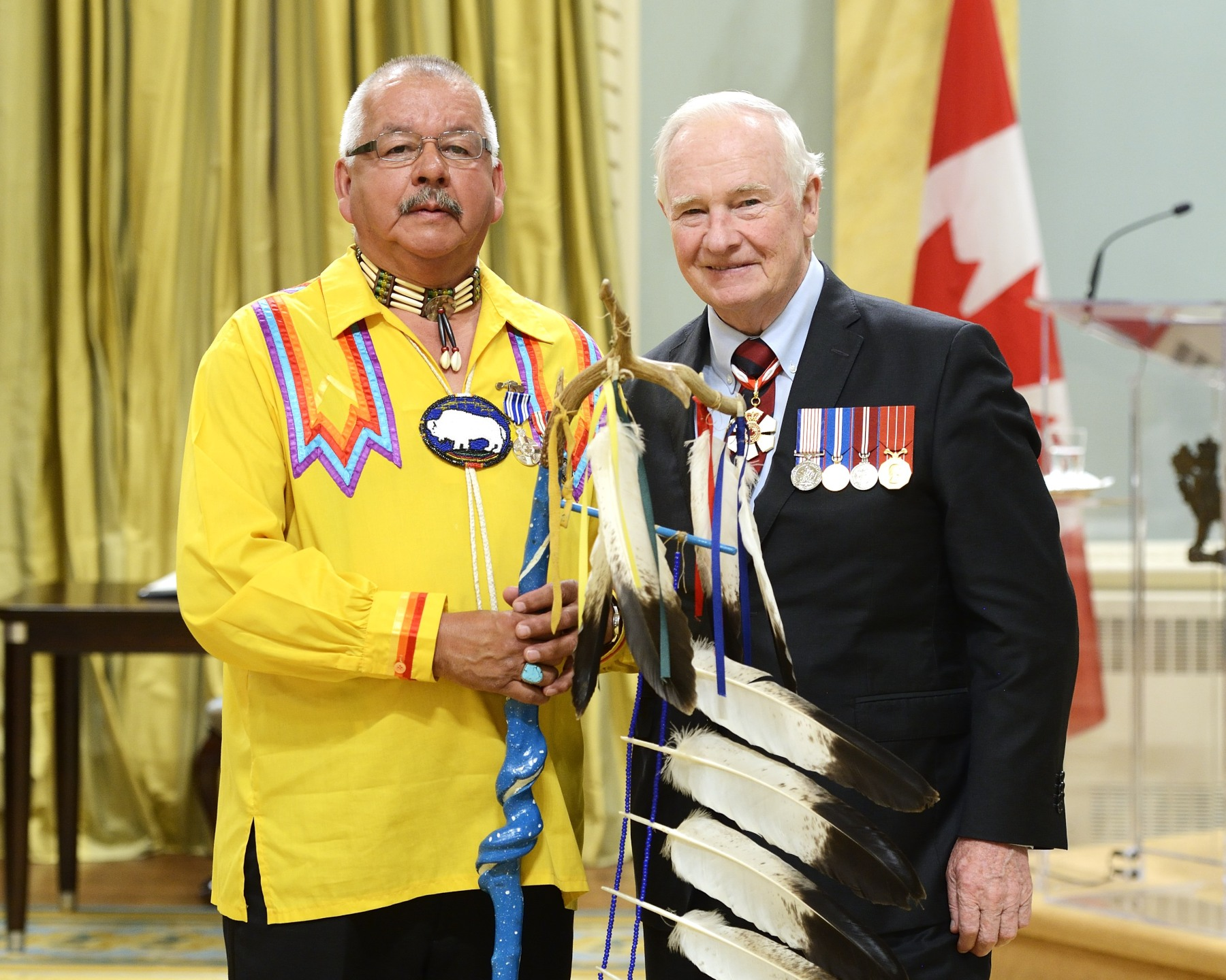 An Elder from the Shawanaga First Nation, Vincent Charles Pawis, O.Ont., M.S.M. (Nobel, Ontario), established the White Buffalo Road Healing Lodge where at-risk Aboriginal youth engage in counselling sessions, workshops, healing circles and sweat lodge ceremonies. This Indigenous-led, non-profit organization instills pride and self-confidence in the community and promotes positive lifestyle changes through connection with cultural heritage.