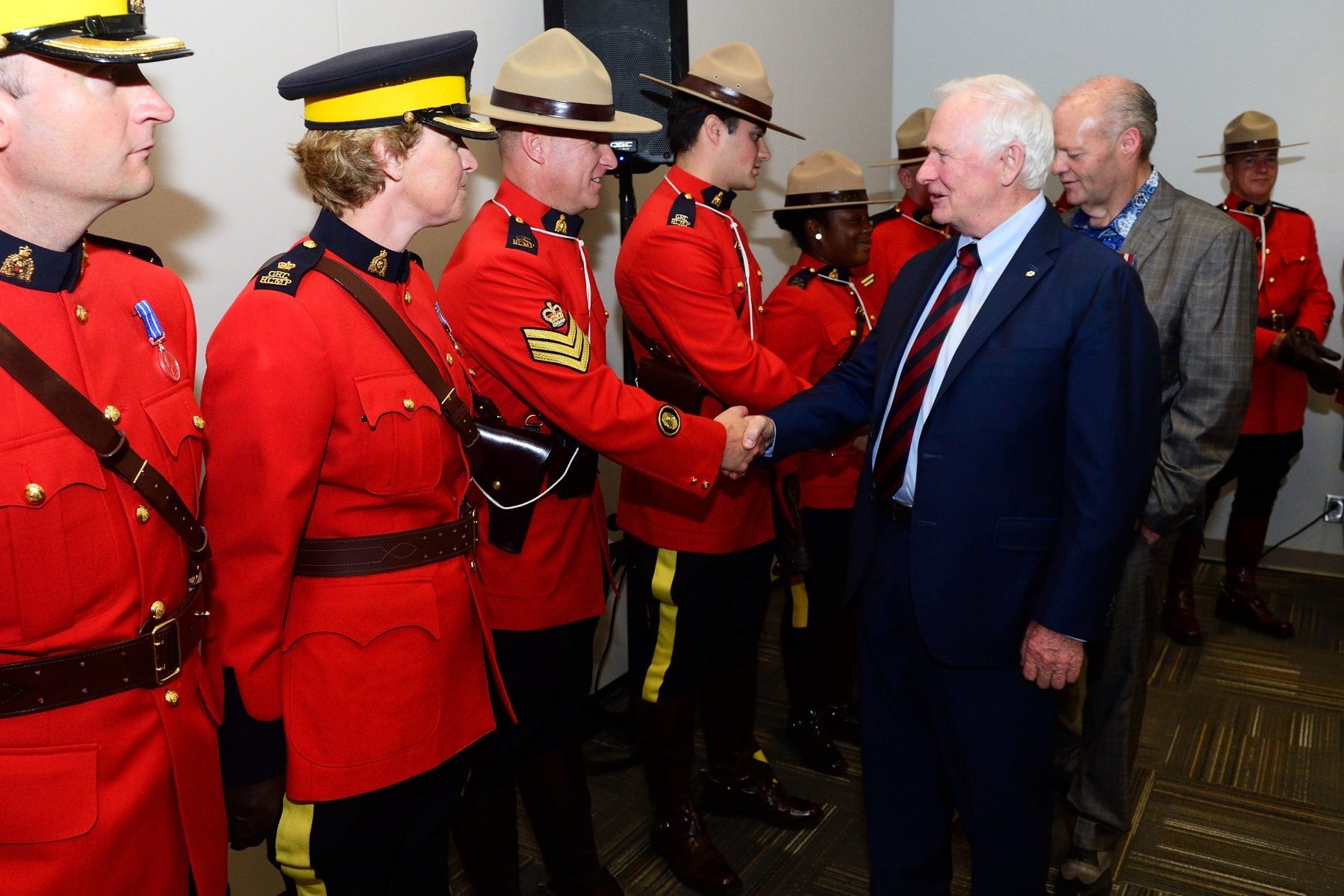 The Governor General personally thanked RCMP officers for their outstanding work.