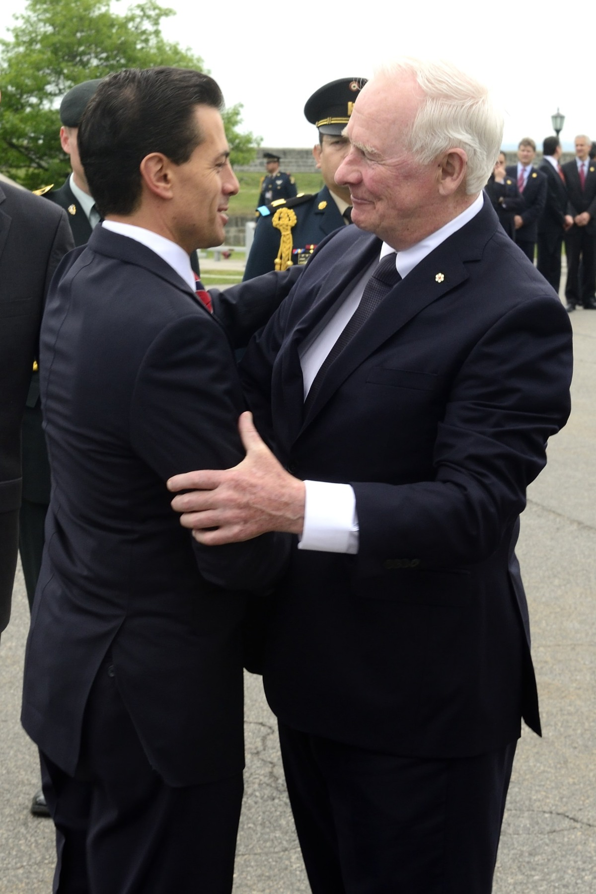 His Excellency the Right Honourable David Johnston, Governor General of Canada, welcomed His Excellency Enrique Peña Nieto, President of the United Mexican States, to Canada on June 27, 2016.