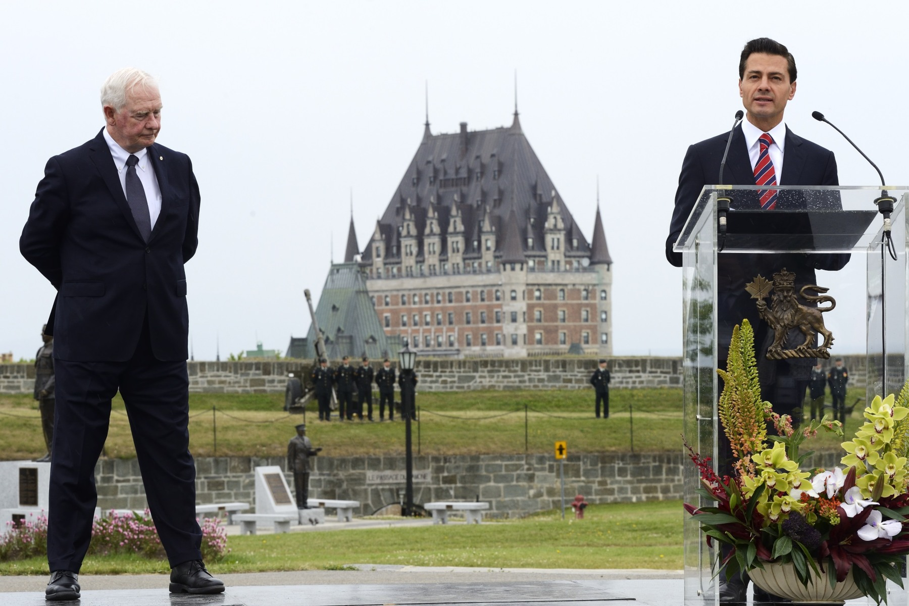 His Excellency Enrique Peña Nieto, President of the United Mexican States delivered his first speech on Canadian soil.
