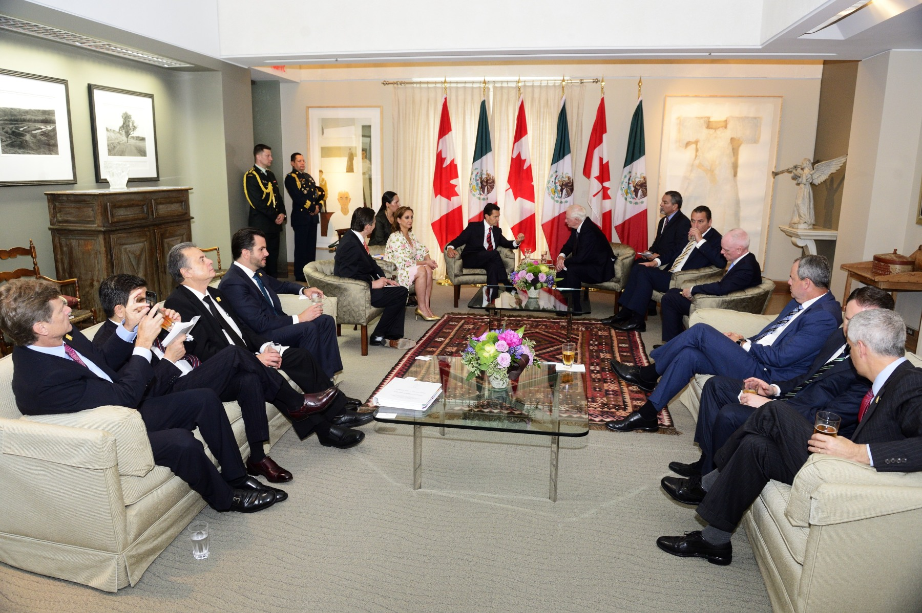 During the meeting, the Governor General and President of Mexico had the opportunity to discuss academic institutions, governments, businesses and cultural institutions.