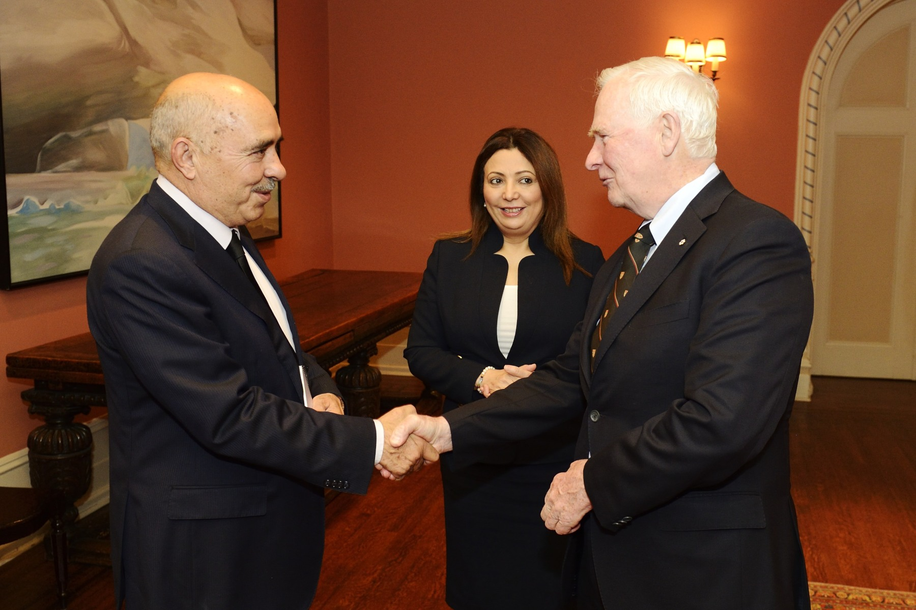 The Governor General the greeted Mr. Abdessatar Ben Moussa, President of the Tunisian Human Rights League.
