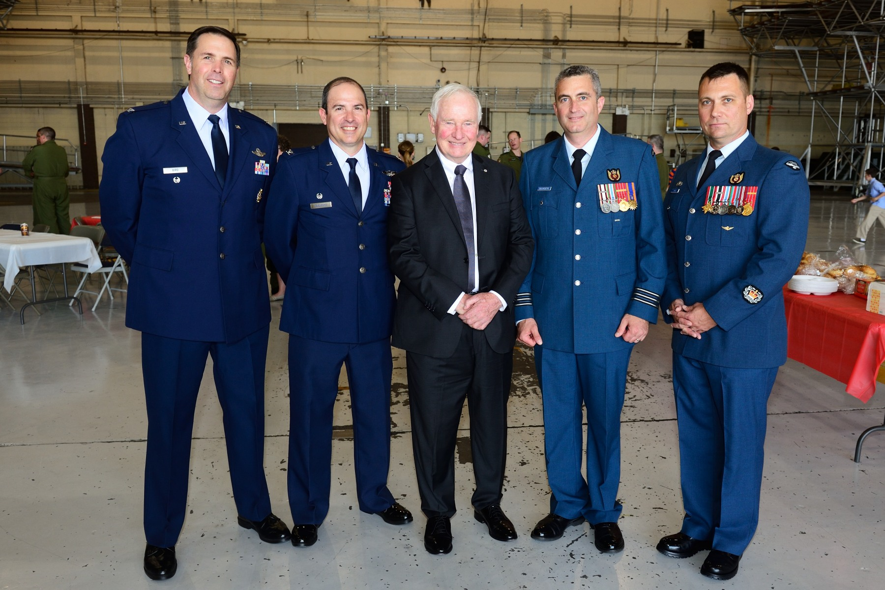 His Excellency with the Canadian and American commanders.