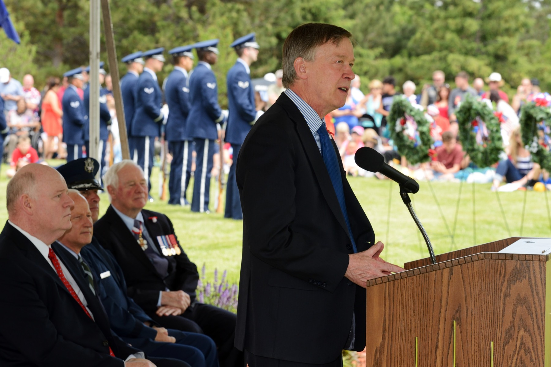 The Governor of Colorado delivered a speech on this occasion.