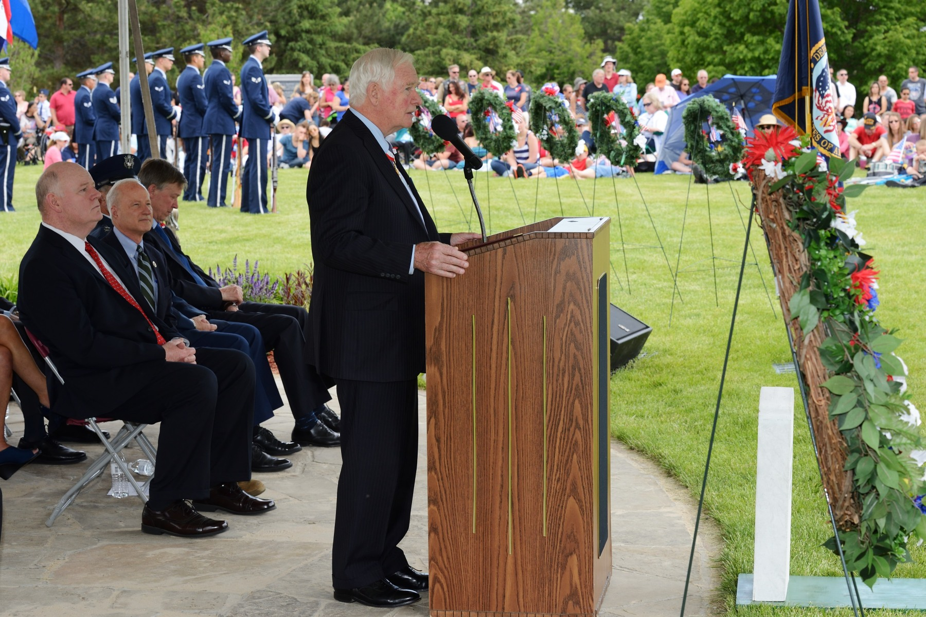 """Each marker is a reminder that death is never anonymous. Each person here has a name and a past. Each one had hopes and fears, love and loss. They came from across the U.S. and fought around the world, alongside allies such as Canada,"" said His Excellency."