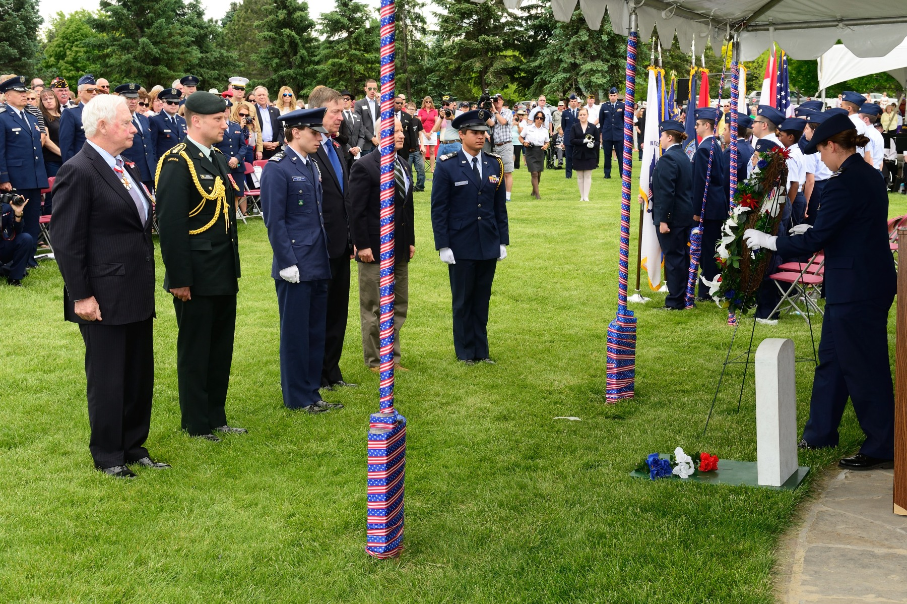 His Excellency laid a wreath alongside the Honourable Mike Coffman, Colorado Congressman, and Colonel John Wagner, Commander of 460th Space Wing, Buckley Air Force Base.