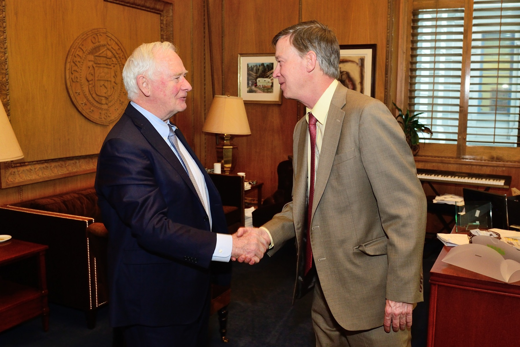 His Excellency concluded his visit to the United States with a meeting with the Honourable John Hickenlooper, Governor of Colorado.