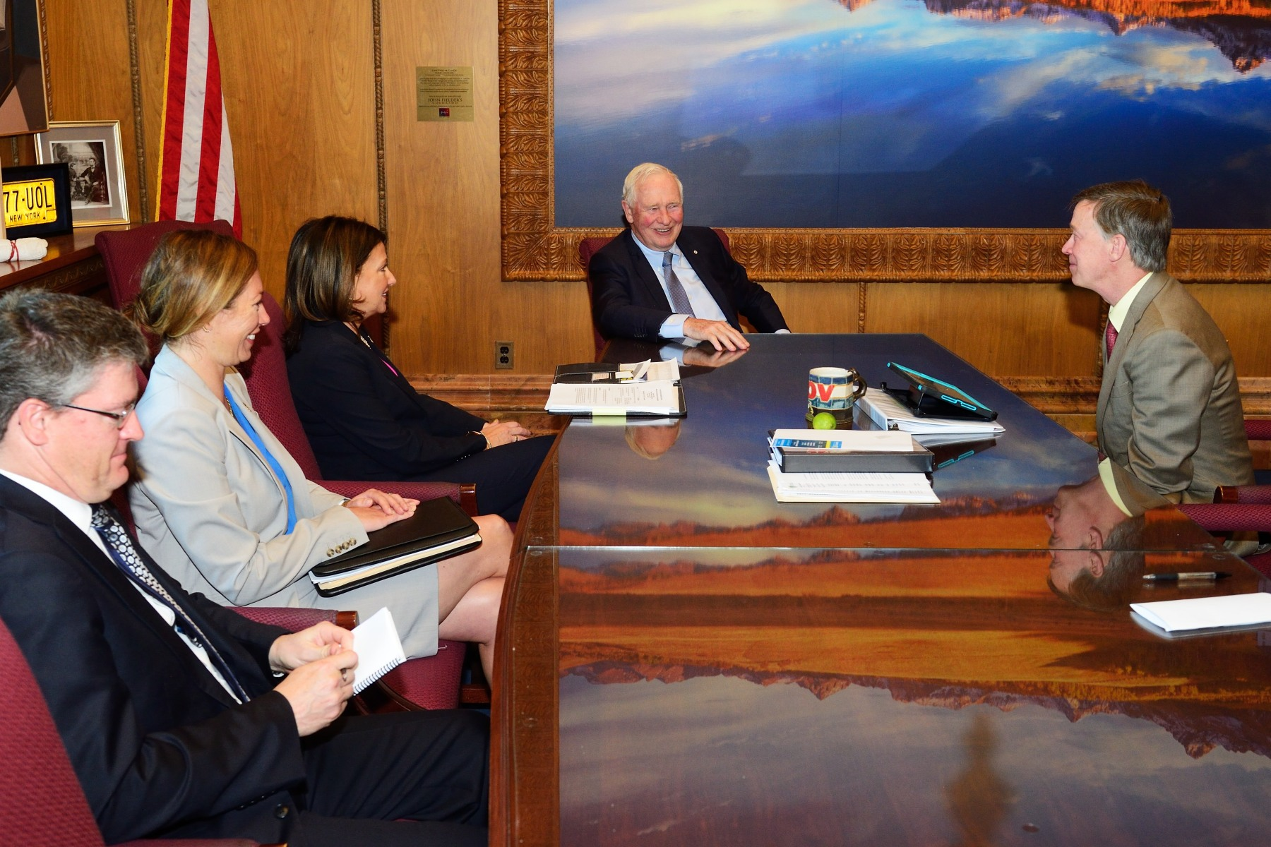 They discussed Canada-Colorado relations and the strengthening of partnerships with Colorado's influencers and decision makers.