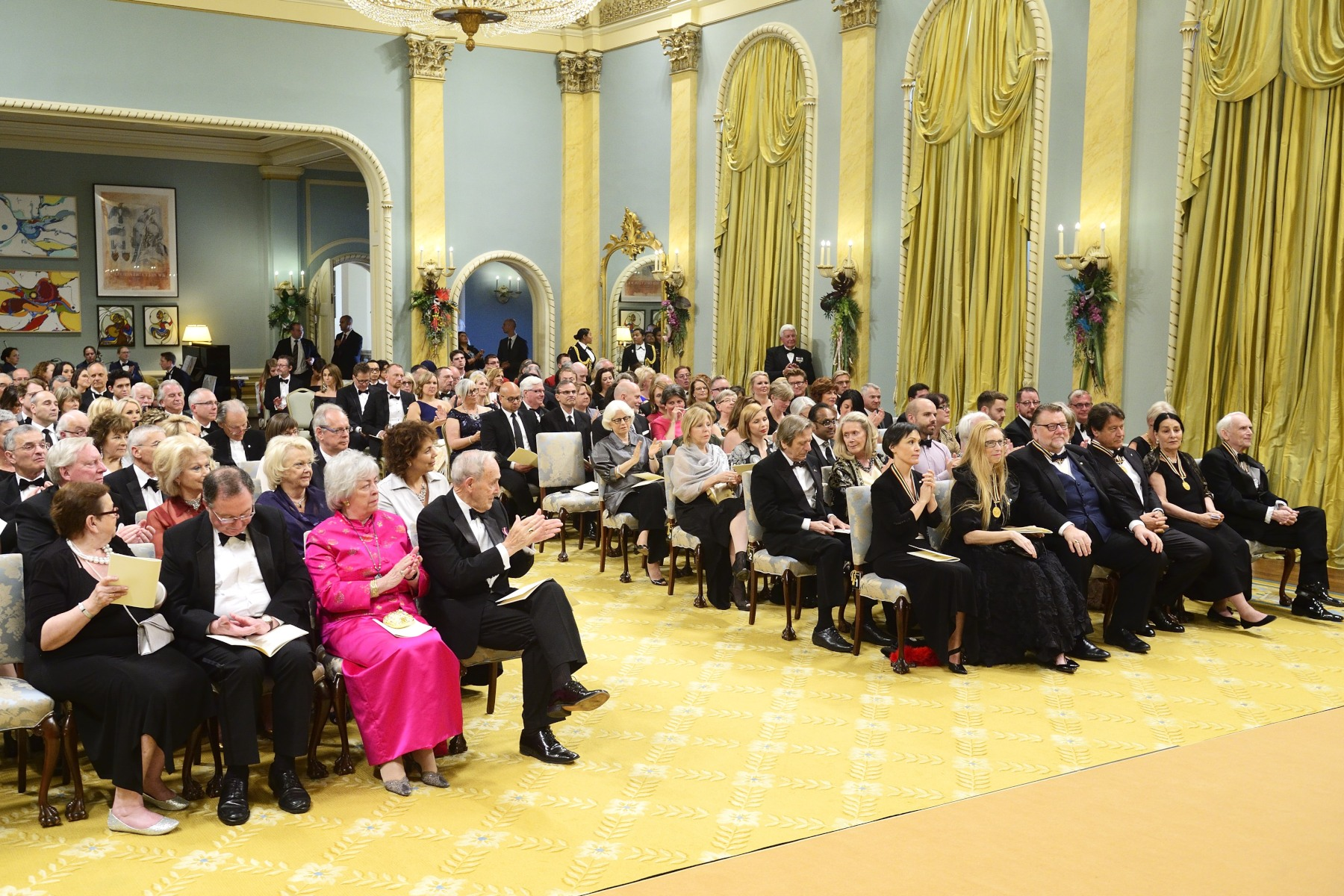 Once again, the ceremony took place in Rideau Hall's Ballroom.
