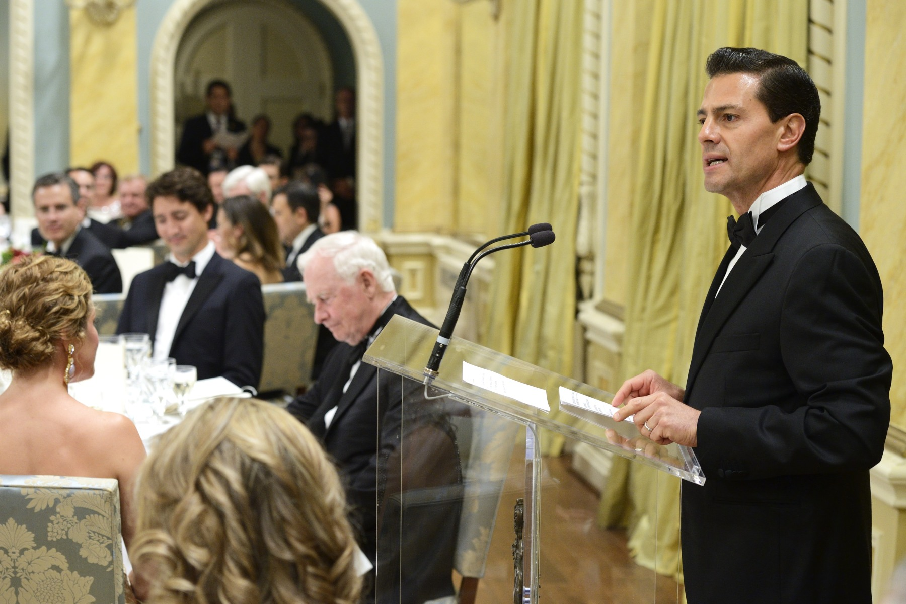 President Peña Nieto also delivered remarks.