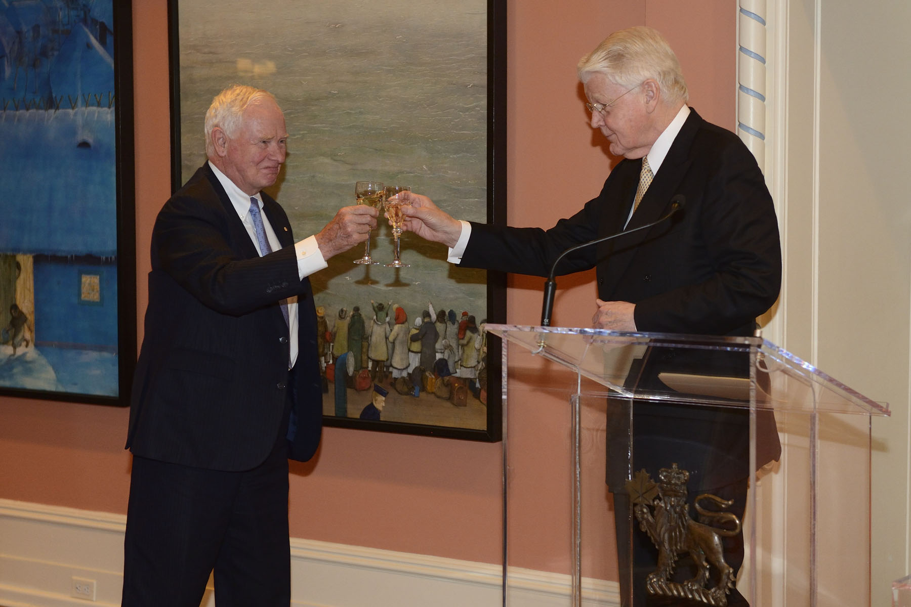 ...and offered a toast to our two countries.