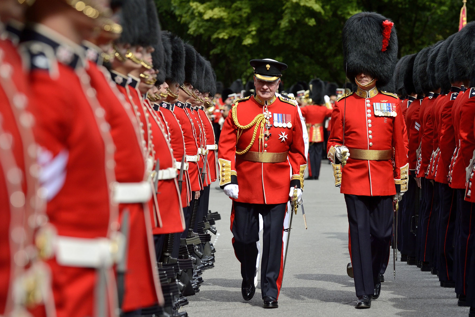 The members of the Ceremonial Guard come from right across Canada, and their record of service is impressive.