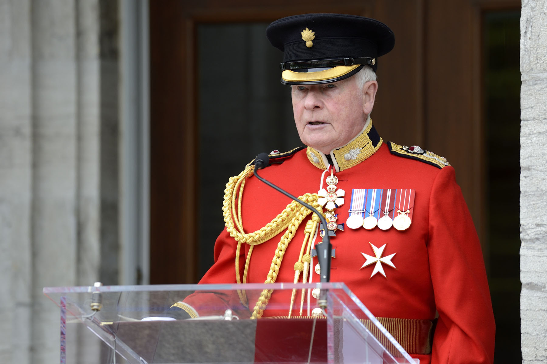 """Today, we pay tribute to the men and women standing before us,"" said the Governor General. ""We owe them a debt of gratitude for their service to our country."""