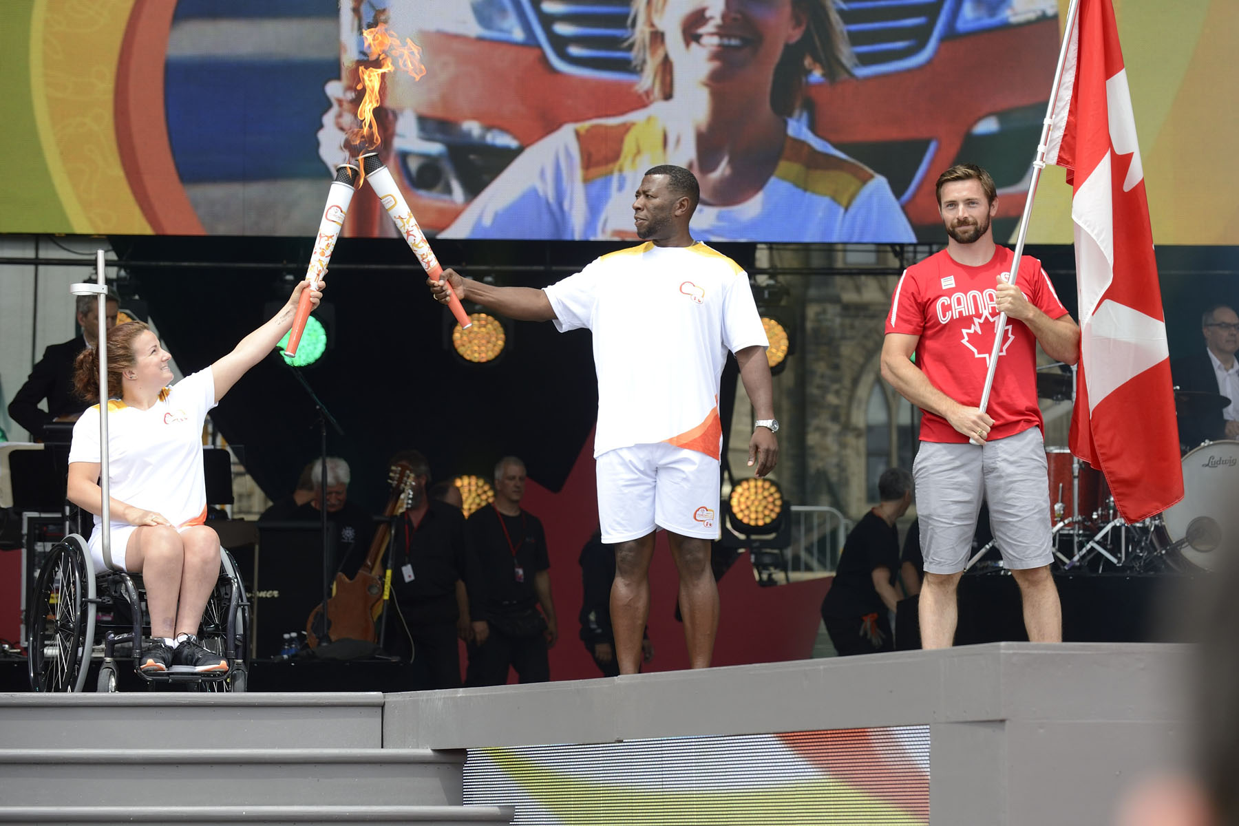 The 2015 Pan Am/Parapan Games Torch Relay was part of the show.