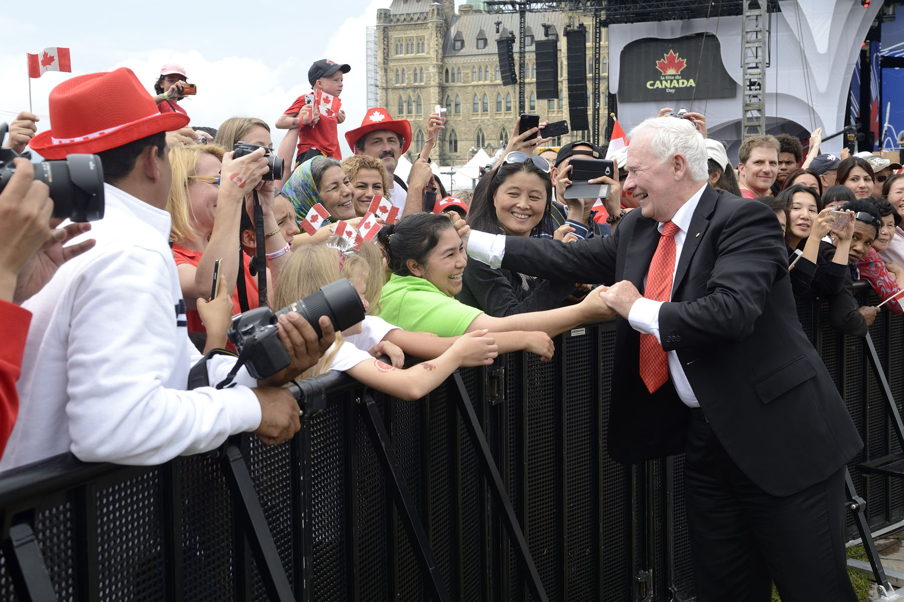 His Excellency was pleased to see such a large crowd that gathered to celebrate Canada Day.