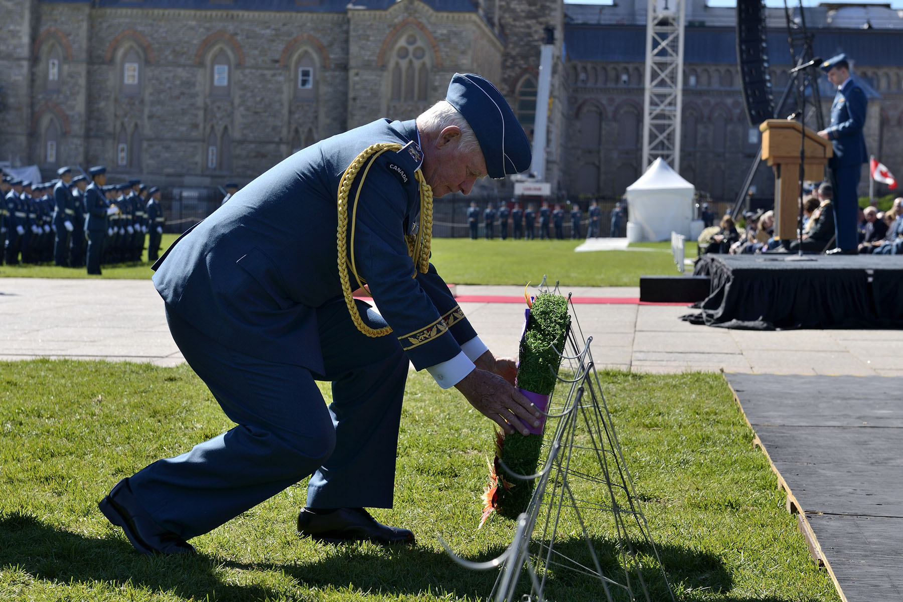 He also laid a wreath to pay tribute to the airmen who fought and died during the battle and to acknowledge those who continue to serve in the Royal Canadian Air Force today.