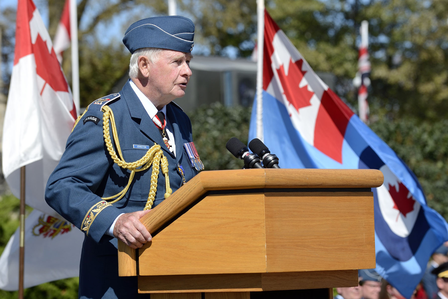 """Without the great courage, ingenuity and skill of those who fought the air war, as well as the remarkable resilience of people on the home front, things might have turned out very differently. As governor general and commander-in-chief of Canada, I'm grateful for this opportunity to mark this milestone anniversary,"" said His Excellency."