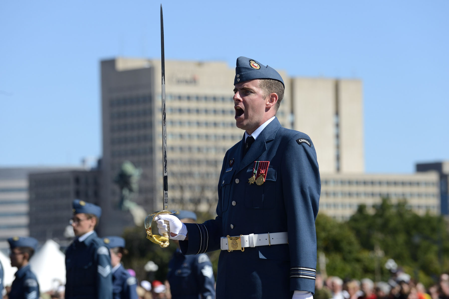 Major Dany Gilbert was the Parade Commander for this national commemoration.