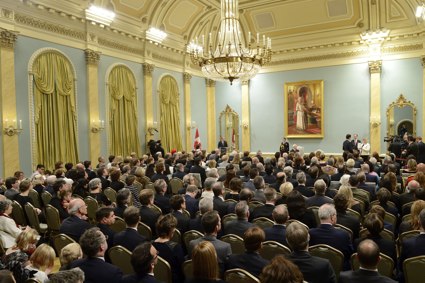 His Excellency presided over the swearing-in ceremony of Canada's 23rd prime minister and members of his new Cabinet.
