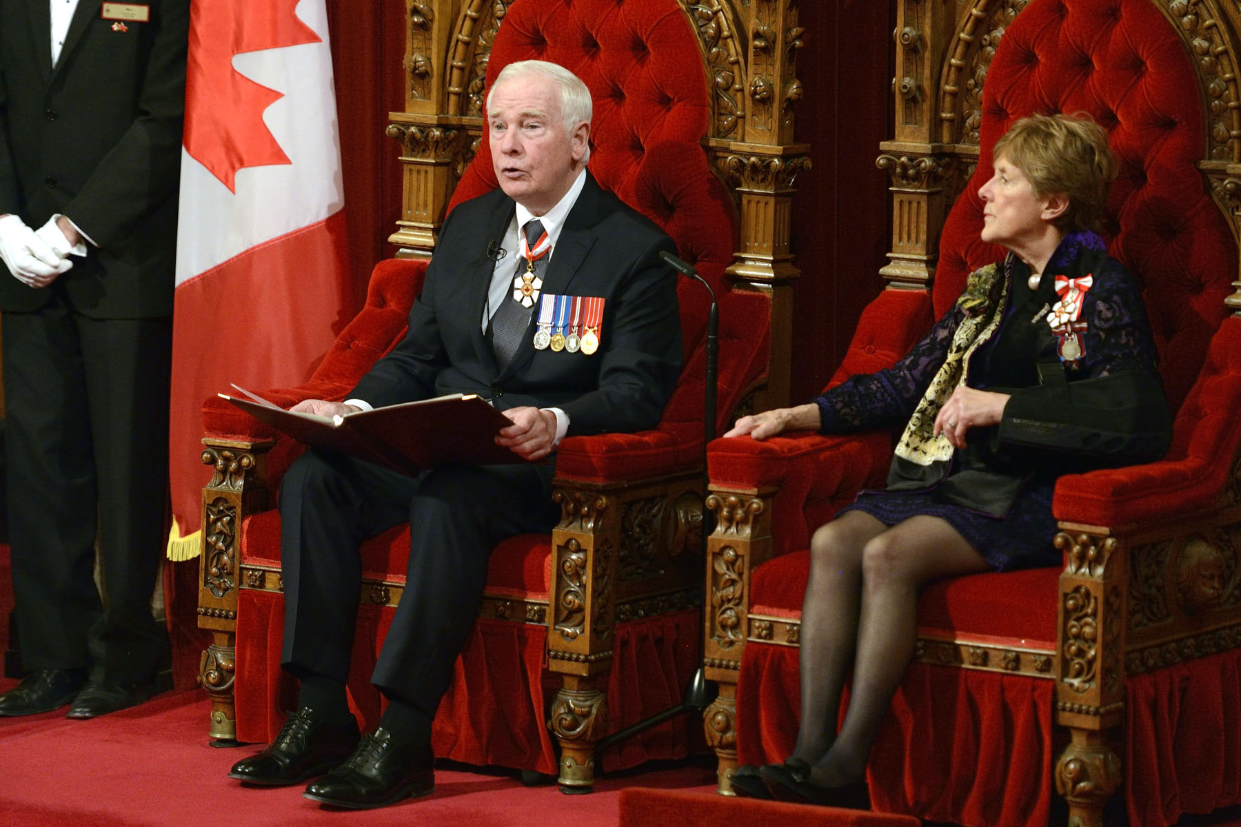 Governor General David Johnston's delivered his third Speech from the Throne since his installation on October 1, 2010.