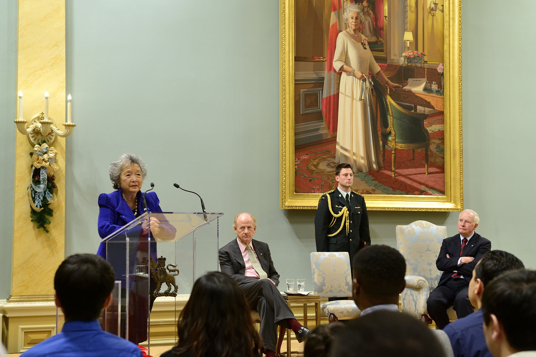 The Right Honourable Adrienne Clarkson, 26th Governor General of Canada delivered remarks.