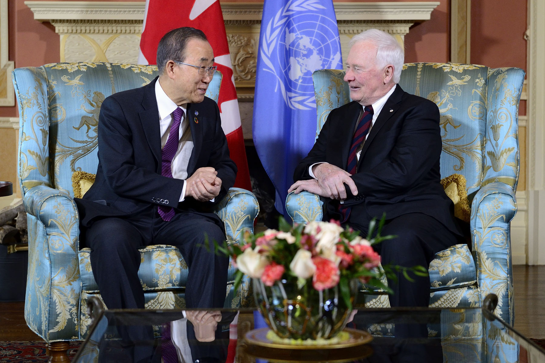 During the meeting, the Governor General and the Secretary-General had the opportunity to discuss Canada's long tradition of international collaboration, as well as its involvement in the United Nations.