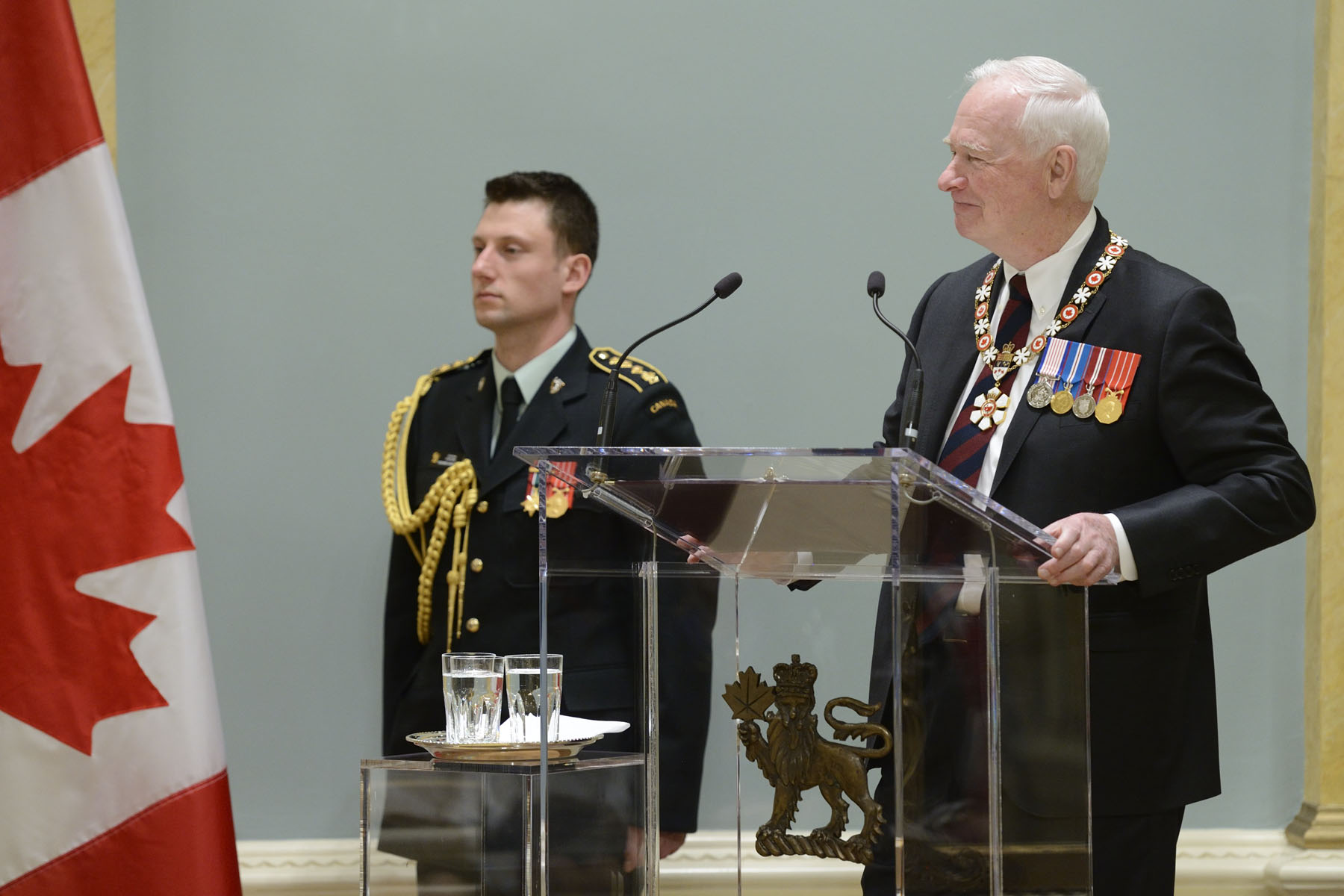 """With this honour, you're part of an extraordinary network of people that spans the length and breadth of this country,"" said His Excellency. ""Think about the great things you can learn and achieve together! For yourselves, your communities and for Canada."""