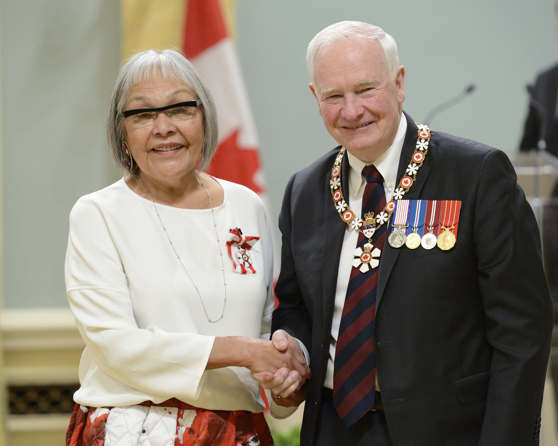 A Cree born and raised on the Kehewin First Nation in Alberta, Madeleine Dion Stout, C.M. (Tsawwassen, British Columbia) has played a major role in the development of Aboriginal health care and education. After working in the field for over a decade and becoming one of the first Aboriginal university-educated nurses, she joined the federal Department of Health and Welfare. As a special policy advisor to the Minister, she played a key role in initiatives such as the devolution of health powers to Indigenous communities in the late 1980s. Now the president of Dion Stout Reflections Inc., she adopts a Cree lens in her research, writing and lectures on First Nations health.