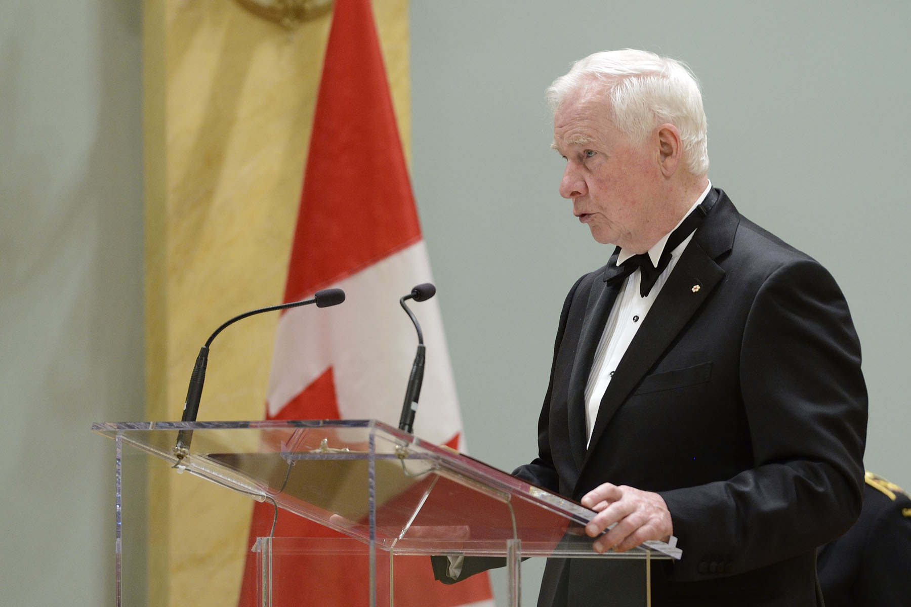 "Their Excellencies the Right Honourable David Johnston, Governor General of Canada, and Mrs. Sharon Johnston presented the 2016 Governor General's Awards in Visual and Media Arts during a ceremony at Rideau Hall, on March 23, 2016. ""I'm so impressed by the range and quality of your achievements. You are photographers and filmmakers, textile artists and painters, conceptual artists and curators. Together, your work is a testament to the vitality of the arts in Canada,"" said the Governor General."