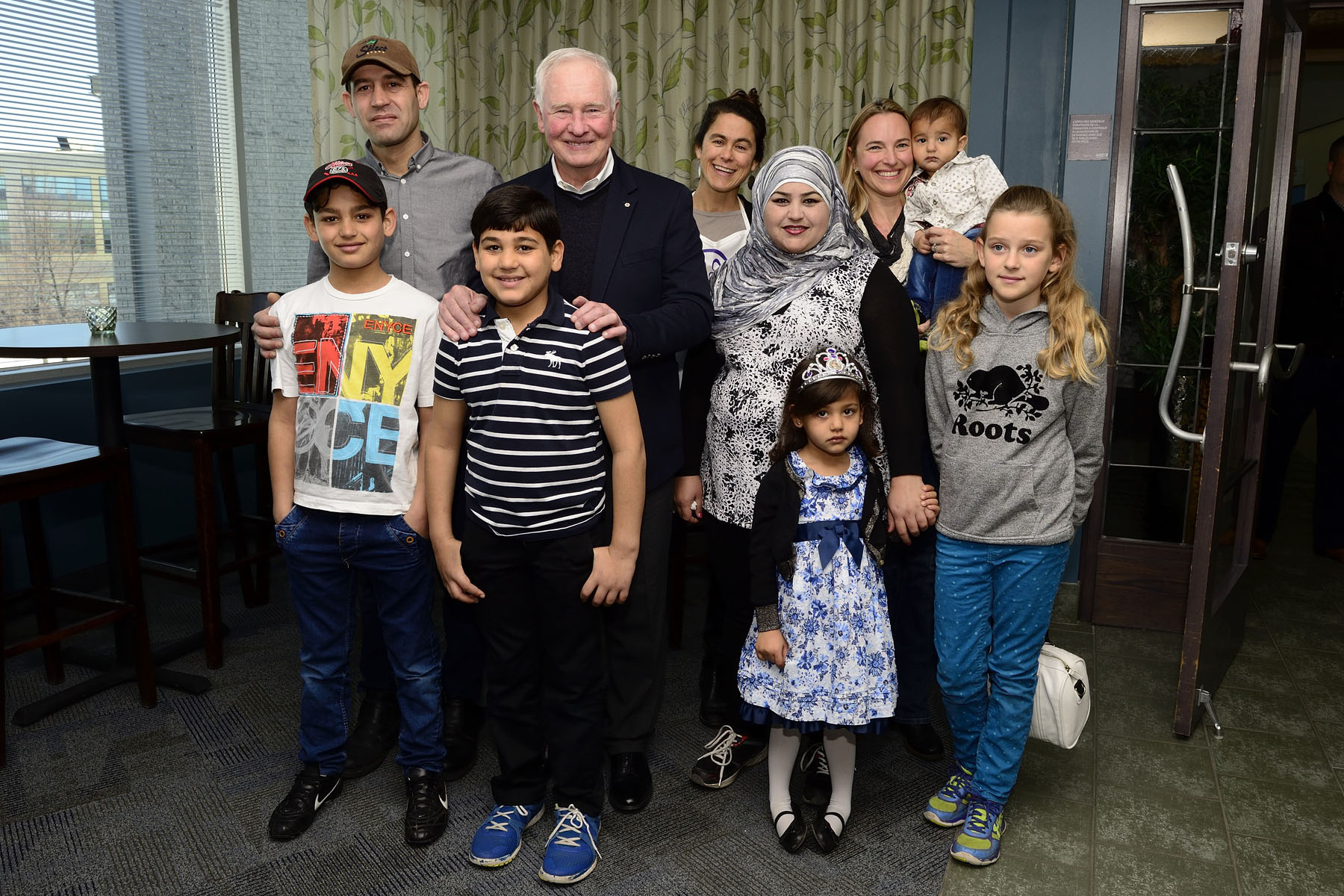 His Excellency was happy to welcome the Hajji family who now lives in Ottawa.