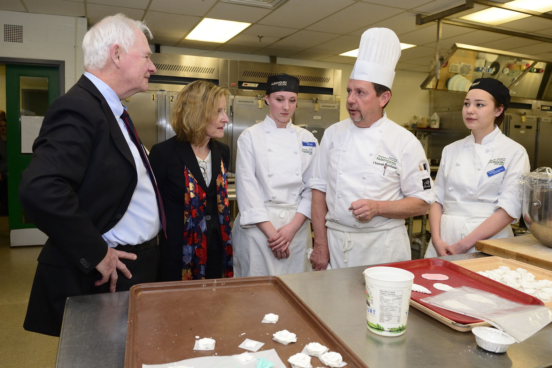 His Excellency was also welcomed to the School of Hospitality and Tourism, where he thanked culinary students who, from time to time, come to the kitchens of Rideau Hall as part of their training.