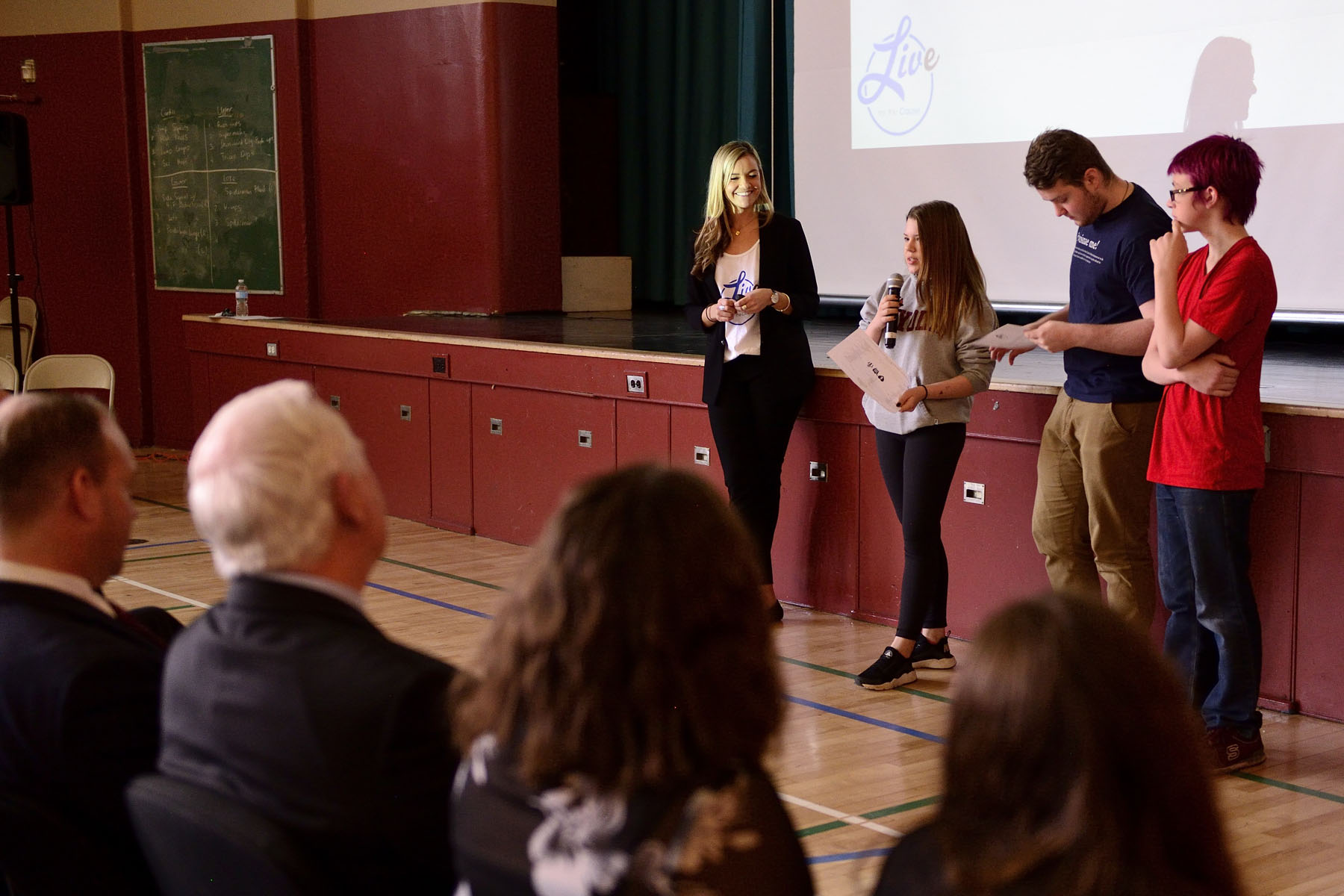 As part of the interactive presentation, several students presented their ideas for a community event to their peers, teachers, representatives from the school board and the Governor General.