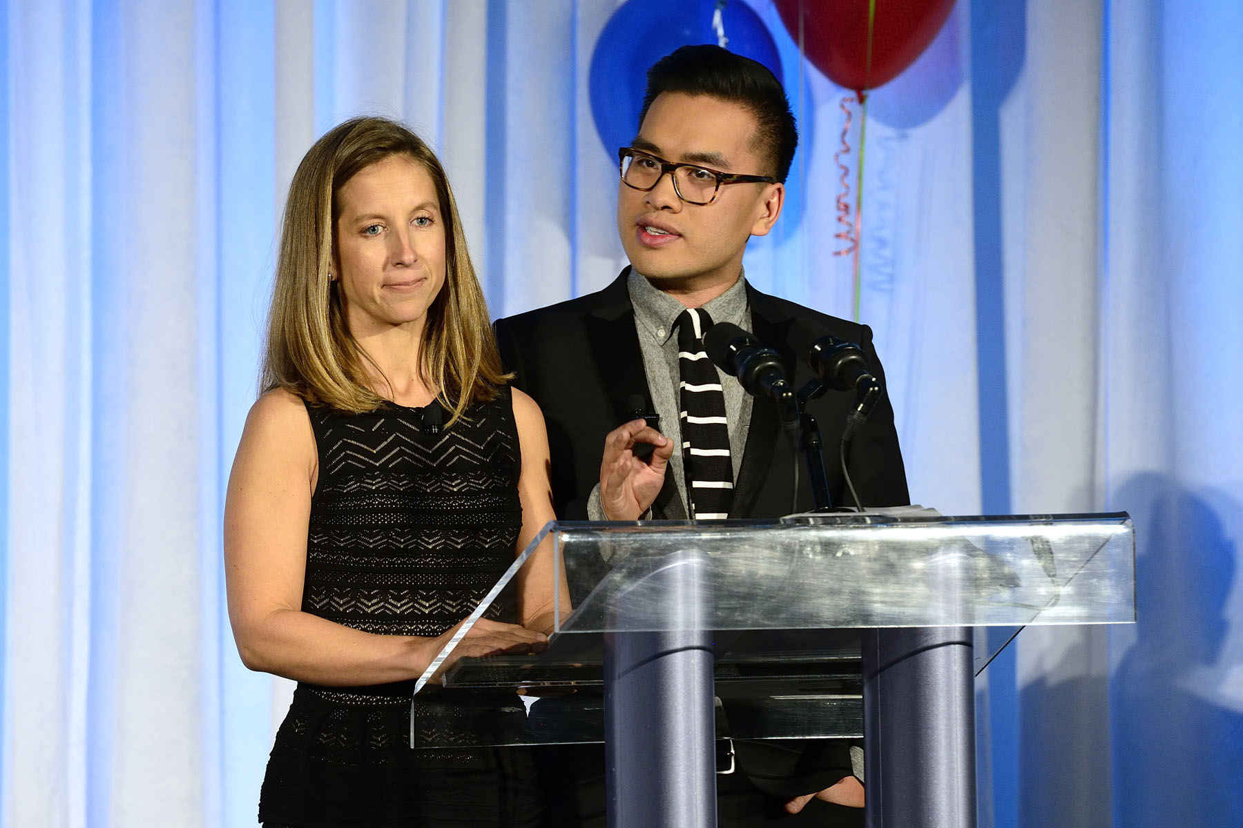 Mr. Liem Vu from Global Toronto's morning show and Ms. Josie French from Hot 89.9's radio morning show were the masters of ceremony for the gala.