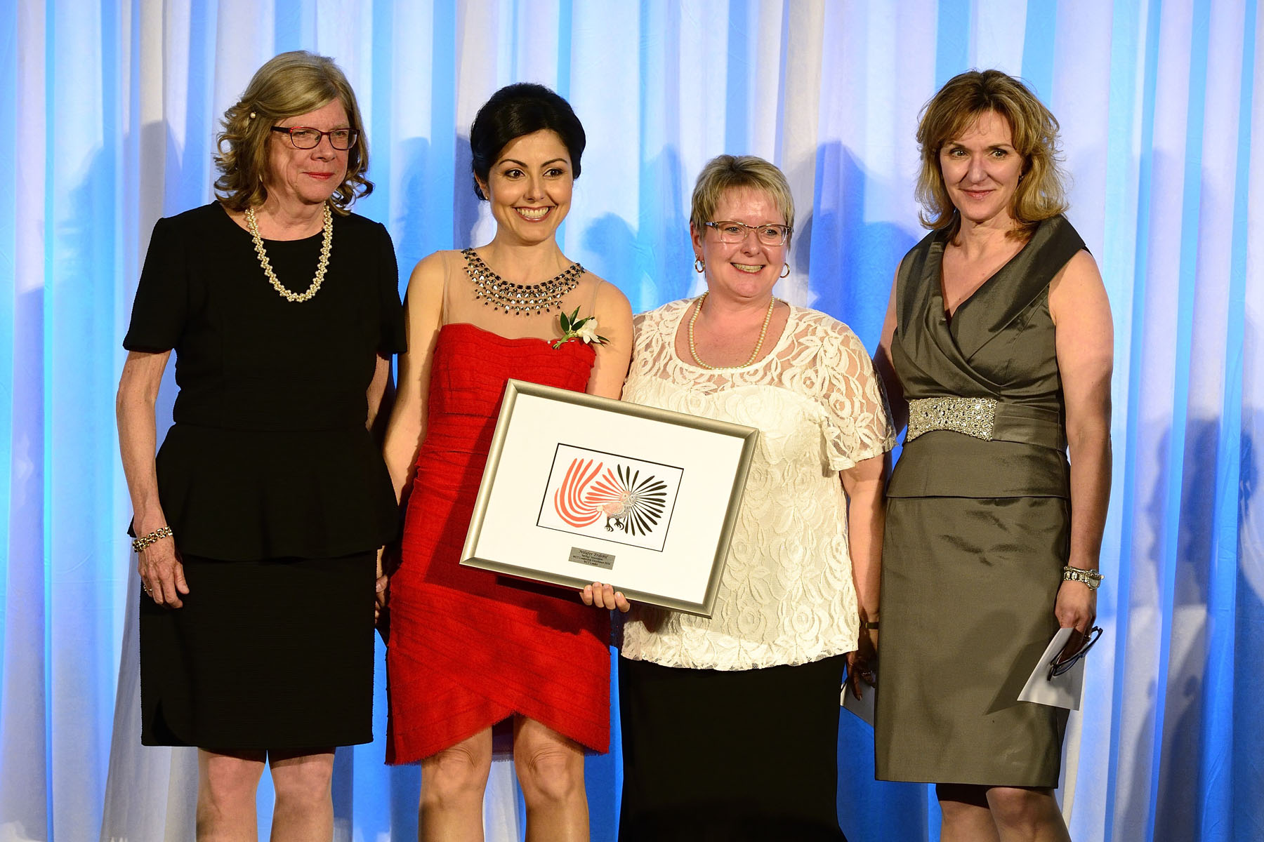 Ms. Nilufer Erdebil, Founder and CEO of Spring2 Innovation, won the award for WCT Leader (pictured centre left).