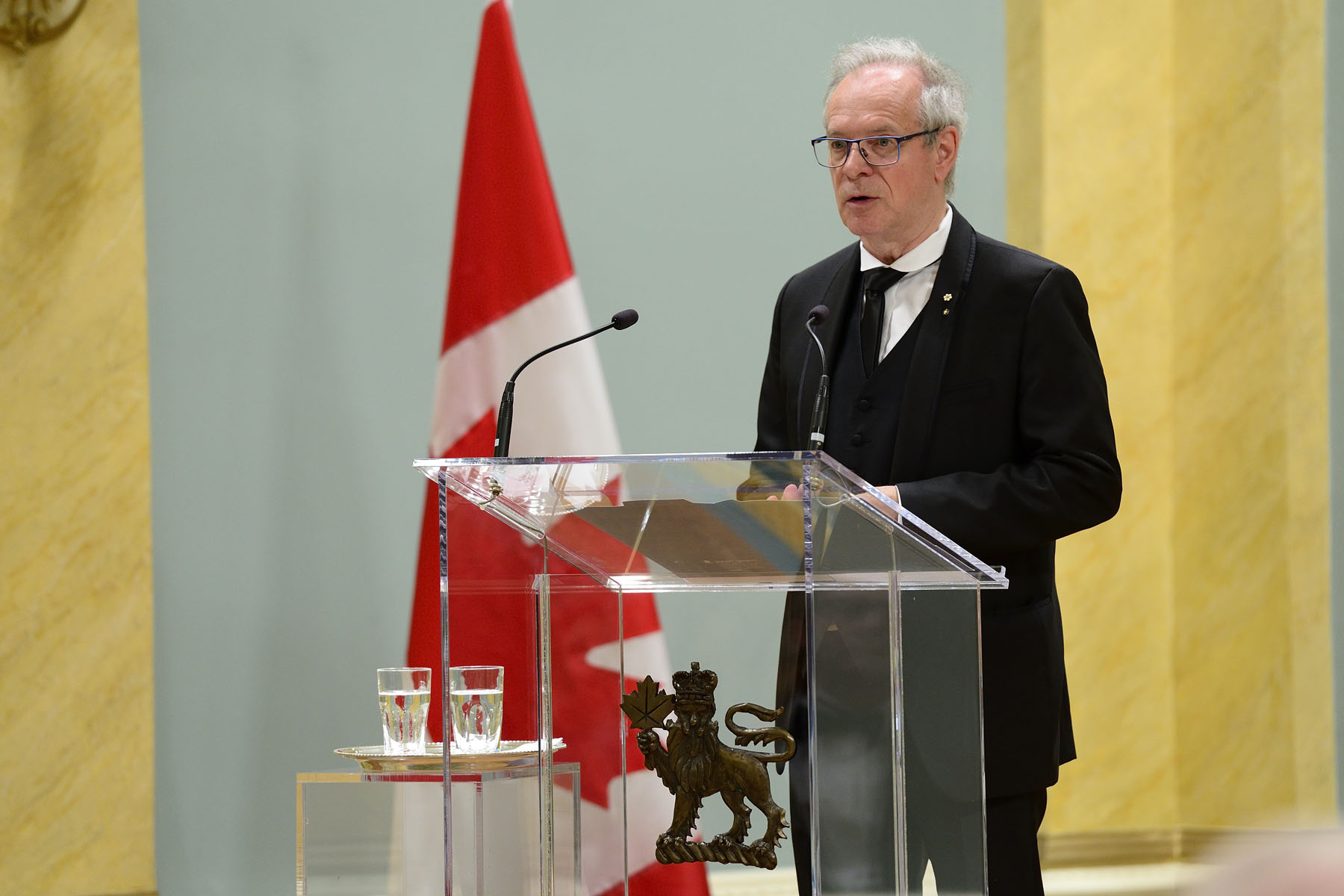 Simon Brault, Director and CEO of the Canada Council for the Arts, delivered remarks. The Canada Council for the Arts administers the Killam Program.