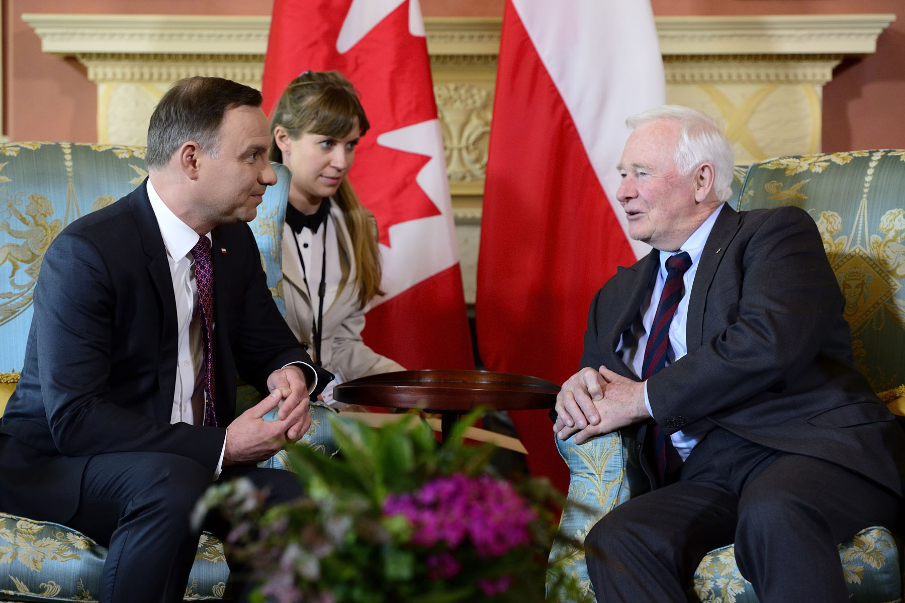 During the meeting, the President and the Governor General talked about bilateral relations and how Canada is quite privileged to be home to a vibrant community of close to one million Polish-Canadians.