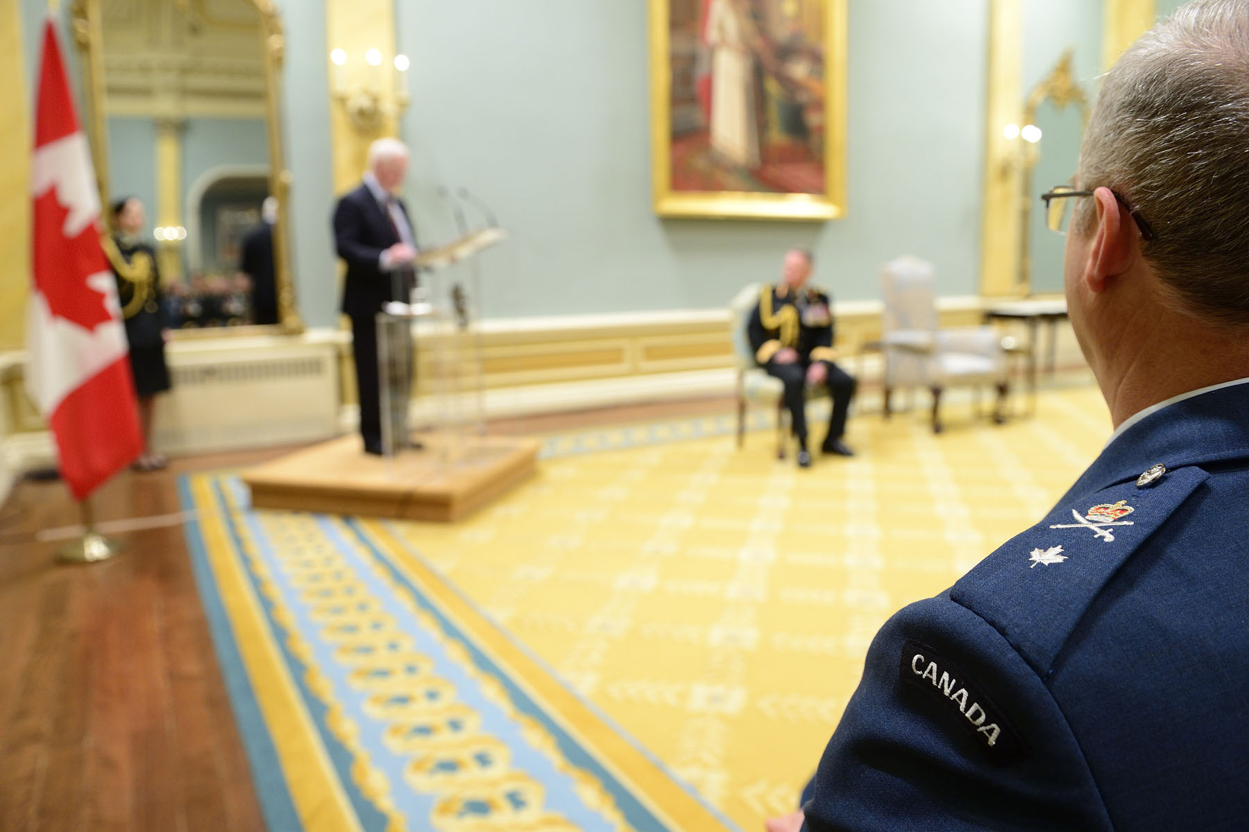 The Governor General and Commander-in-Chief of Canada recognized the promotion of Canadian Armed Forces members during a presentation of scrolls held at Rideau Hall.